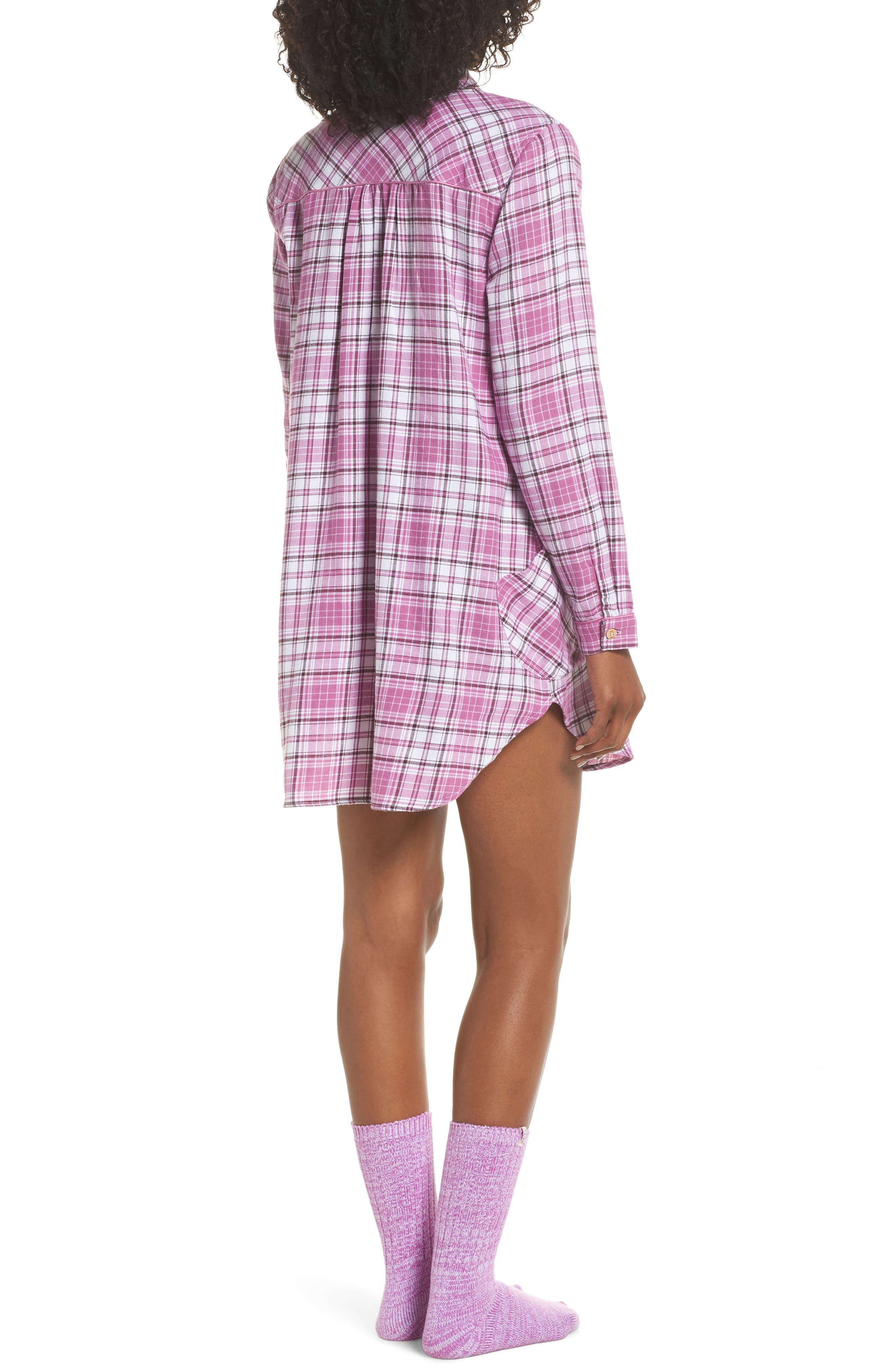 UGG<SUP>®</SUP>, Sleep Shirt & Socks Set, Alternate thumbnail 2, color, BODACIOUS PLAID