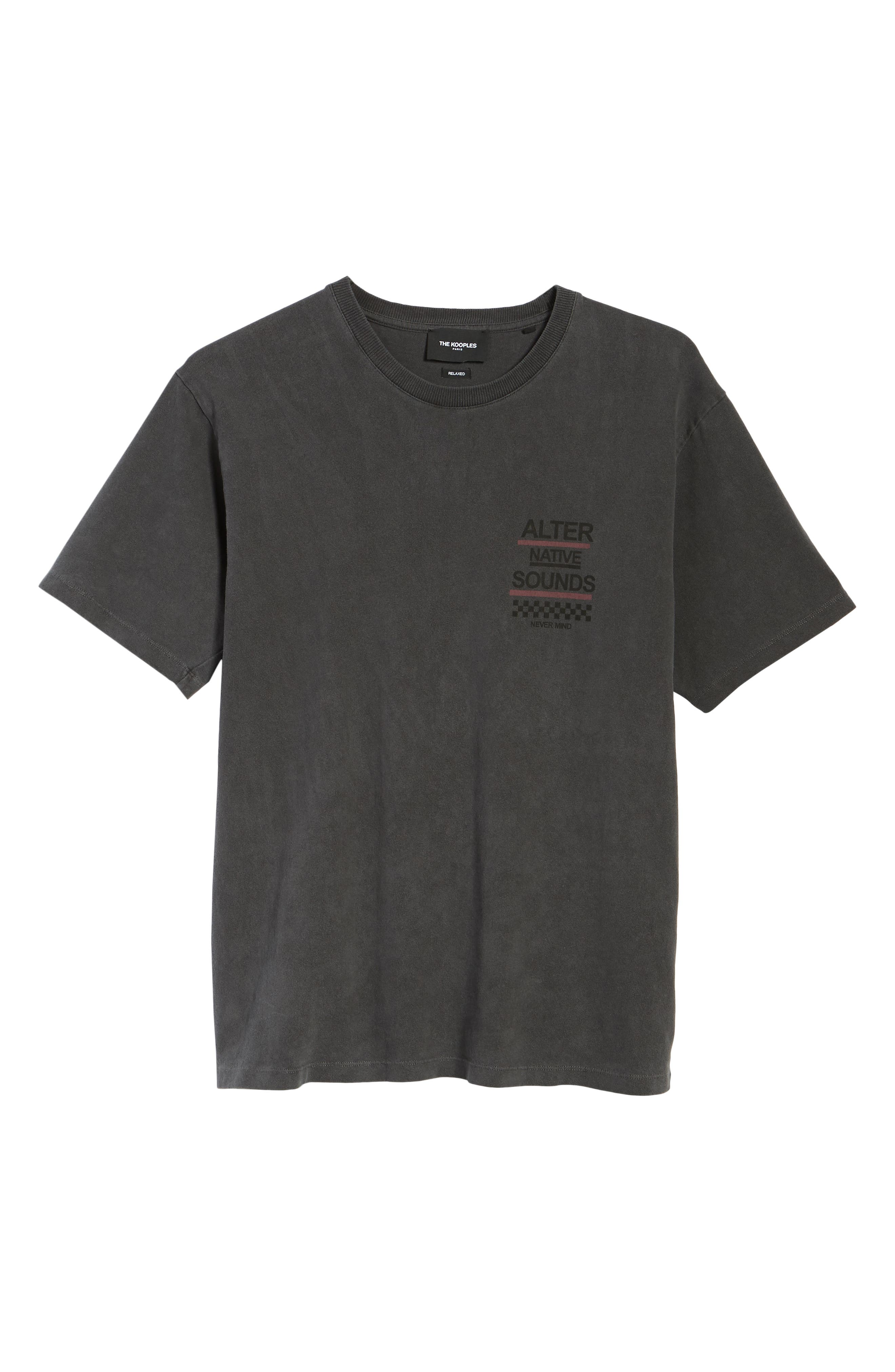 THE KOOPLES, Graphic T-Shirt, Alternate thumbnail 6, color, WASHED GREY