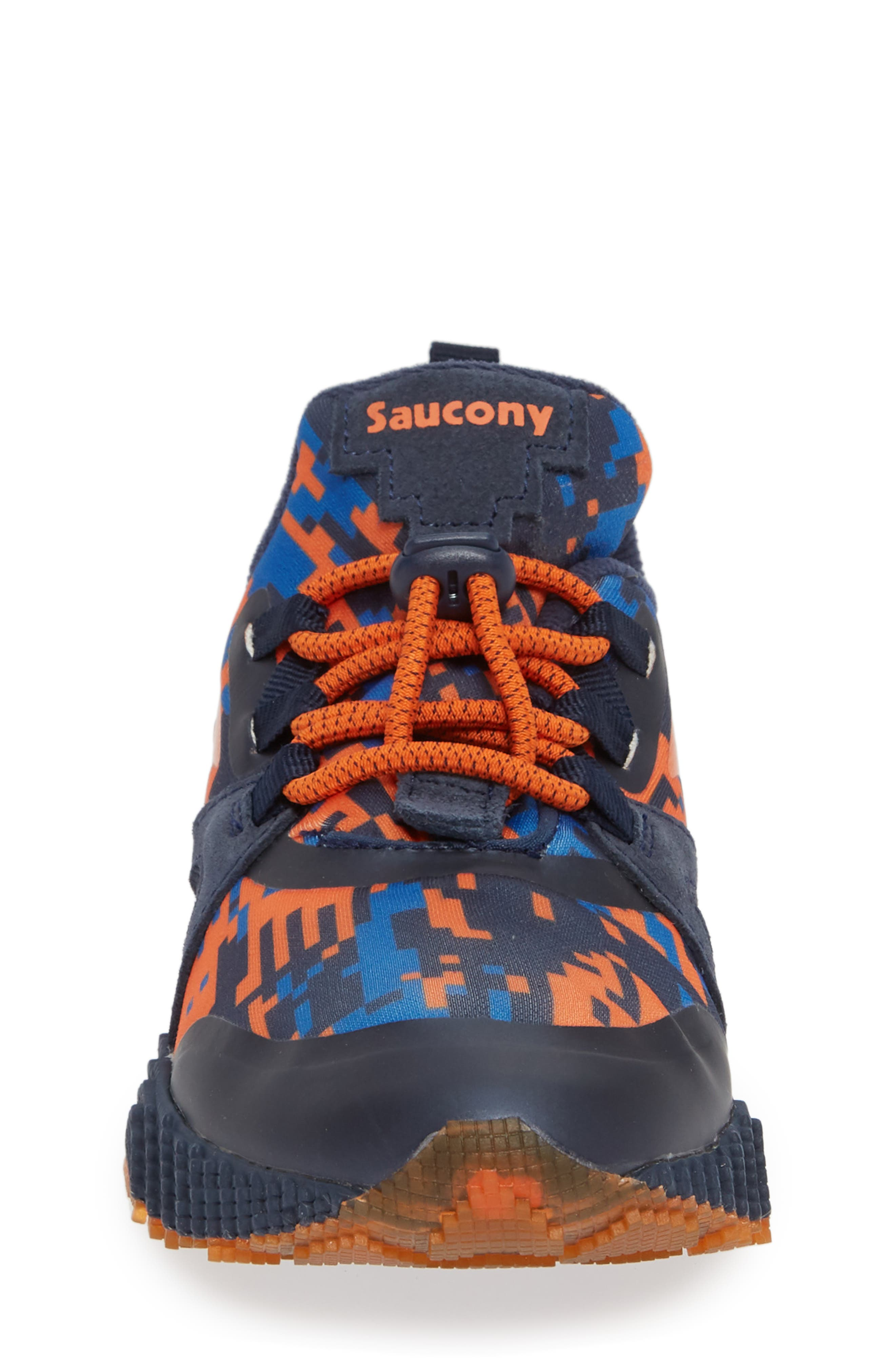 SAUCONY, Voxel 9000 Sneaker, Alternate thumbnail 4, color, BLUE LEATHER/ MESH