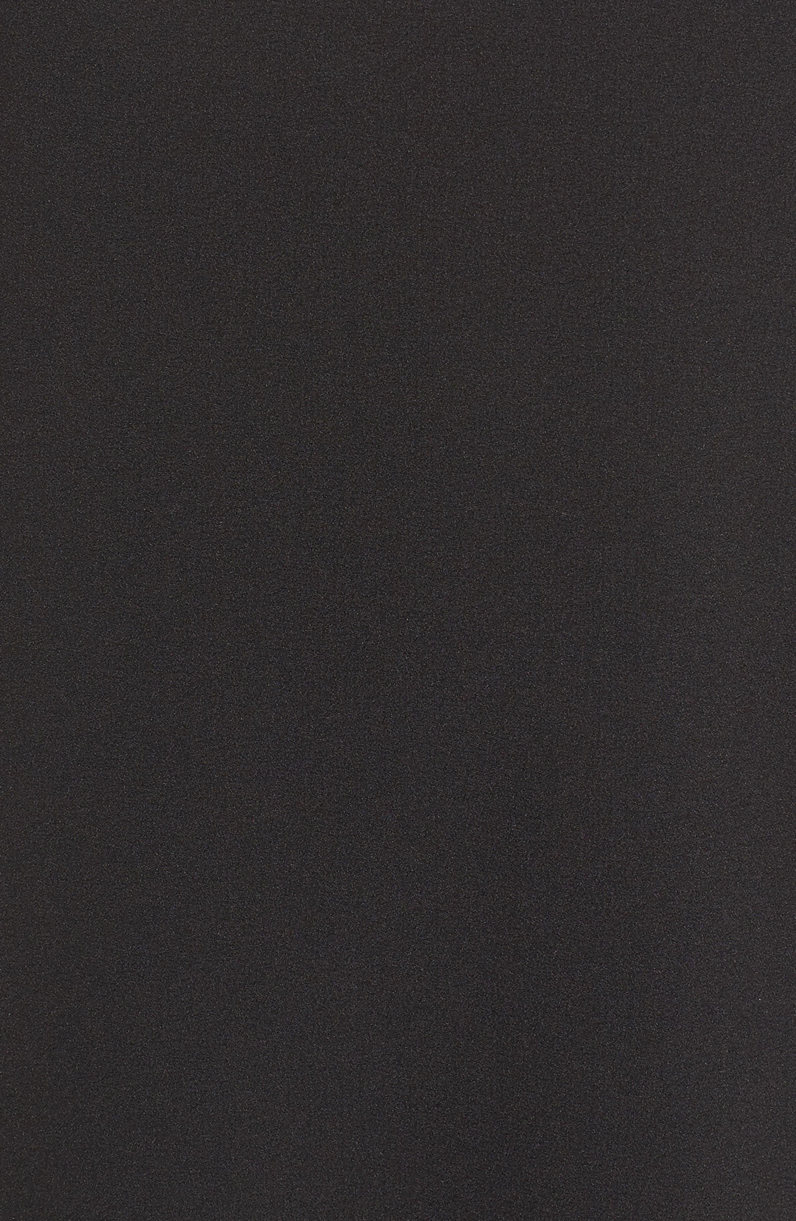 CHELSEA28, Crepe Shift Dress, Alternate thumbnail 7, color, BLACK