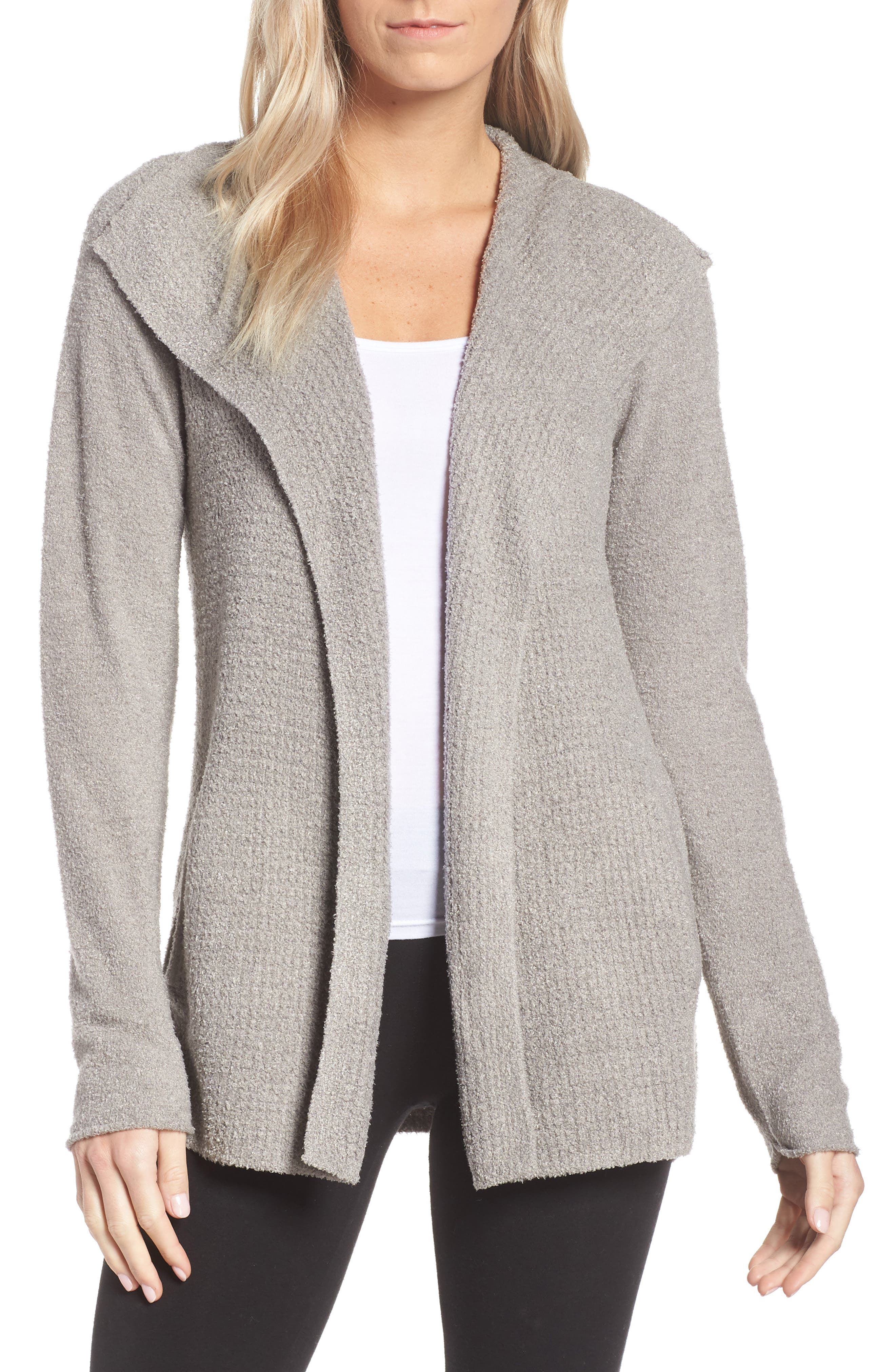BAREFOOT DREAMS<SUP>®</SUP>, Cozychic<sup>®</sup> Lite Coastal Cardigan, Main thumbnail 1, color, PEWTER