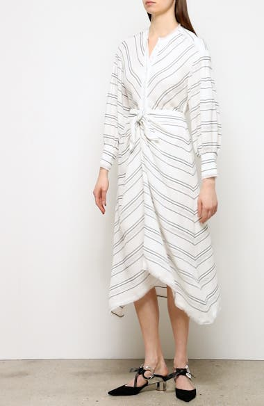Tie Front Stripe Crepe Dress, video thumbnail