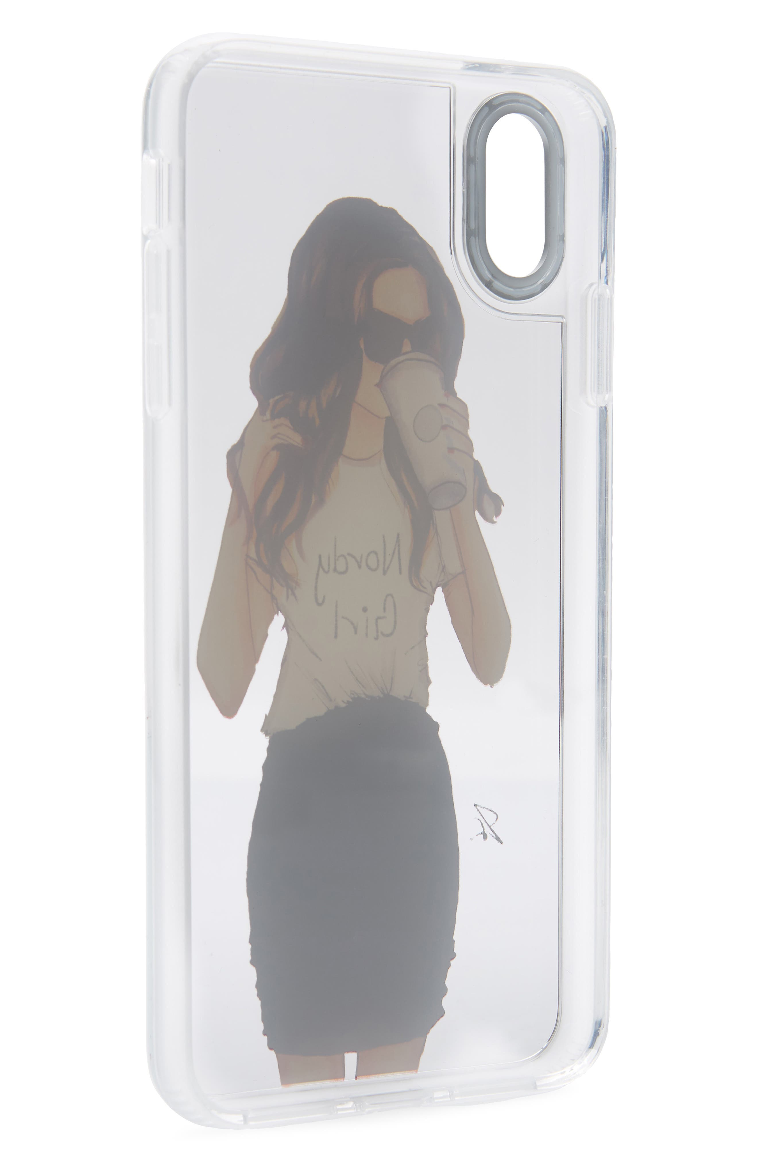 CASETIFY, Nordy Girl Grip iPhone X/Xs, XR, X Max Case, Alternate thumbnail 2, color, BRUNETTE