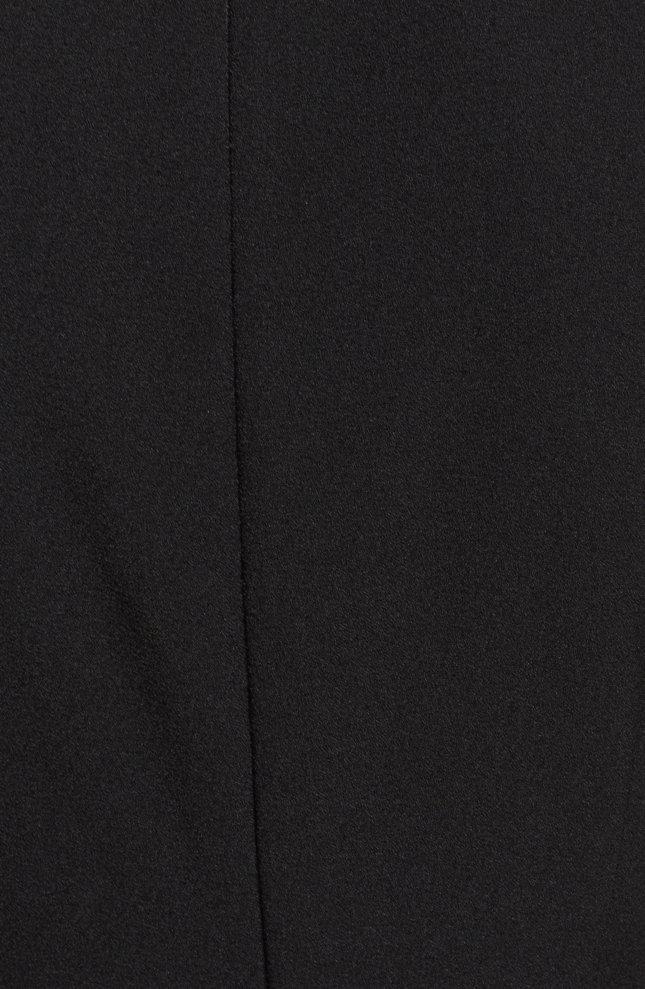 VINCE CAMUTO, Tie Front Wide Leg Jumpsuit, Alternate thumbnail 6, color, BLACK
