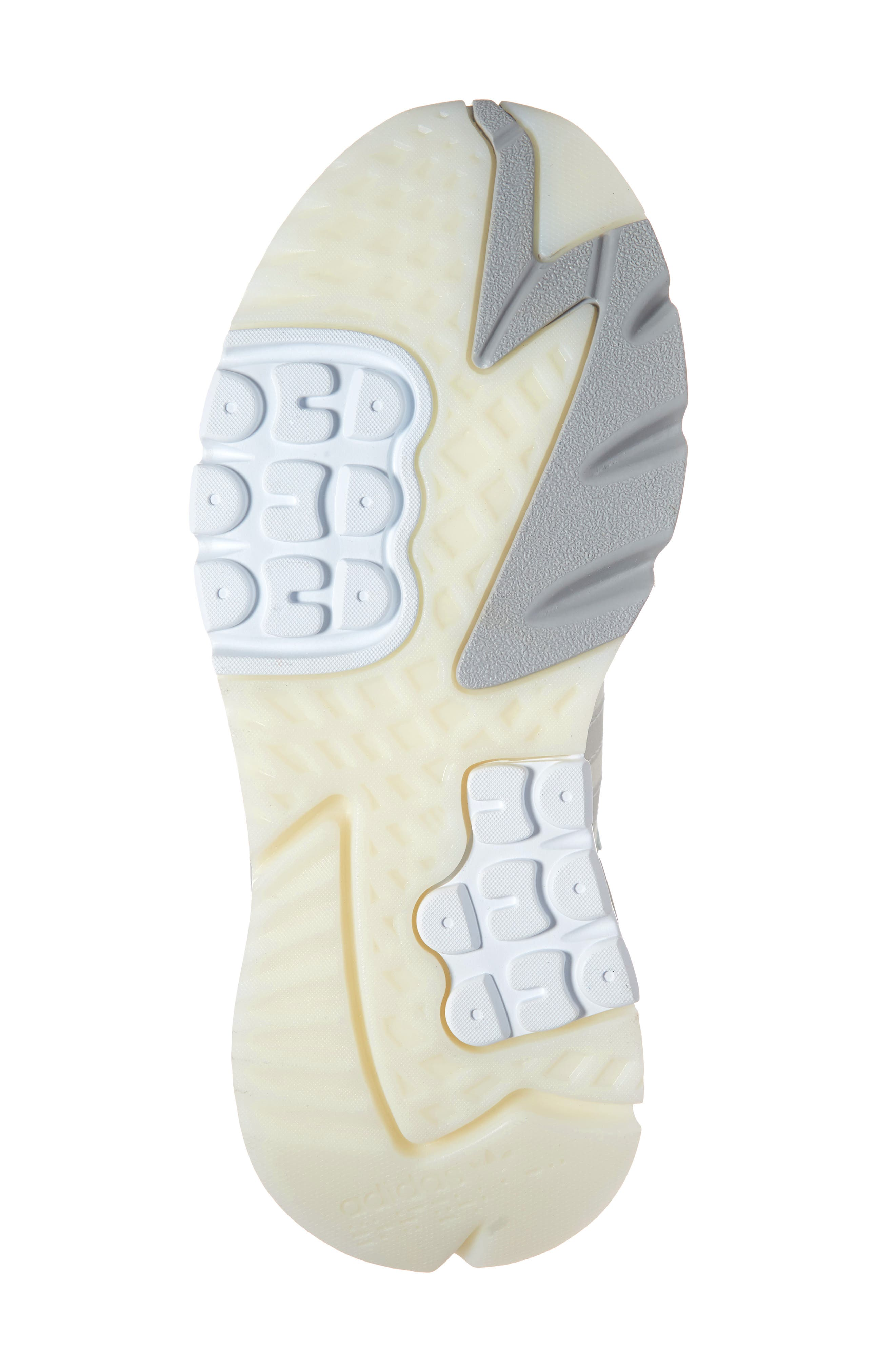 ADIDAS, Nite Jogger Sneaker, Alternate thumbnail 6, color, RAW WHITE/ GREY/ VAPOR GREEN