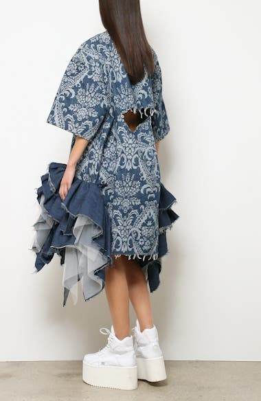 Denim Jacquard Tulle Dress, video thumbnail