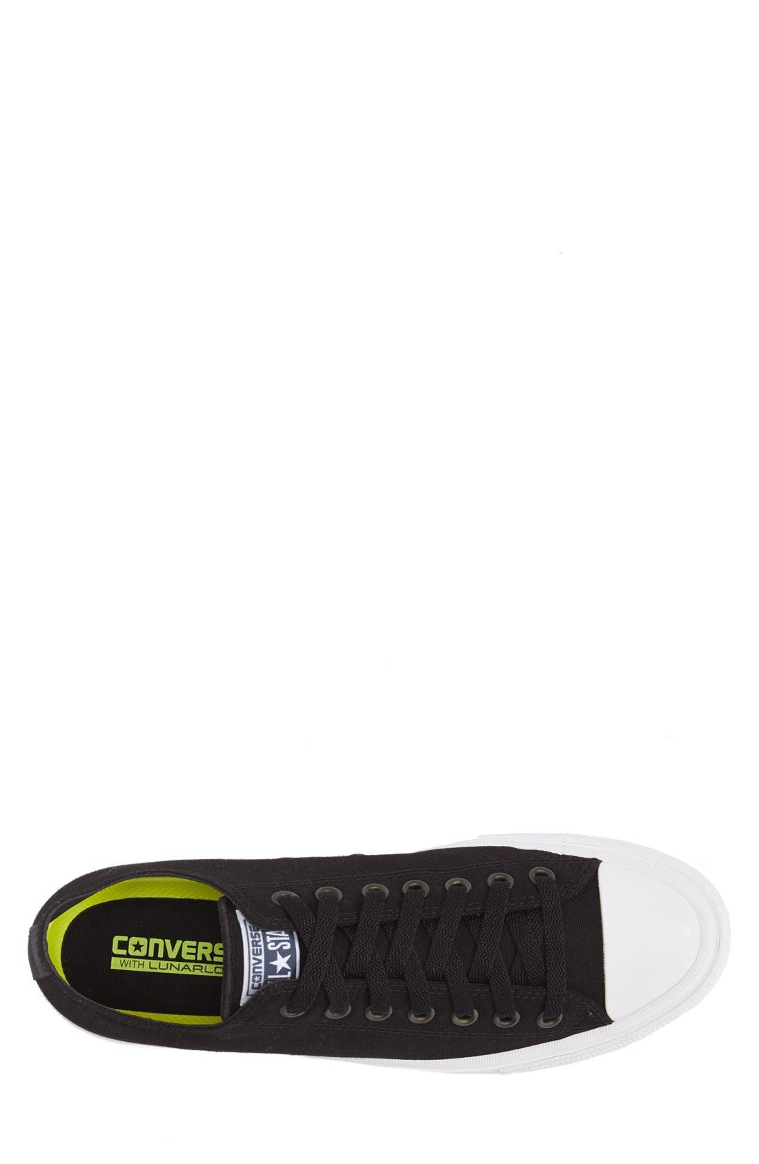 CONVERSE, Chuck Taylor<sup>®</sup> All Star<sup>®</sup> II 'Ox' Canvas Sneaker, Alternate thumbnail 3, color, 001