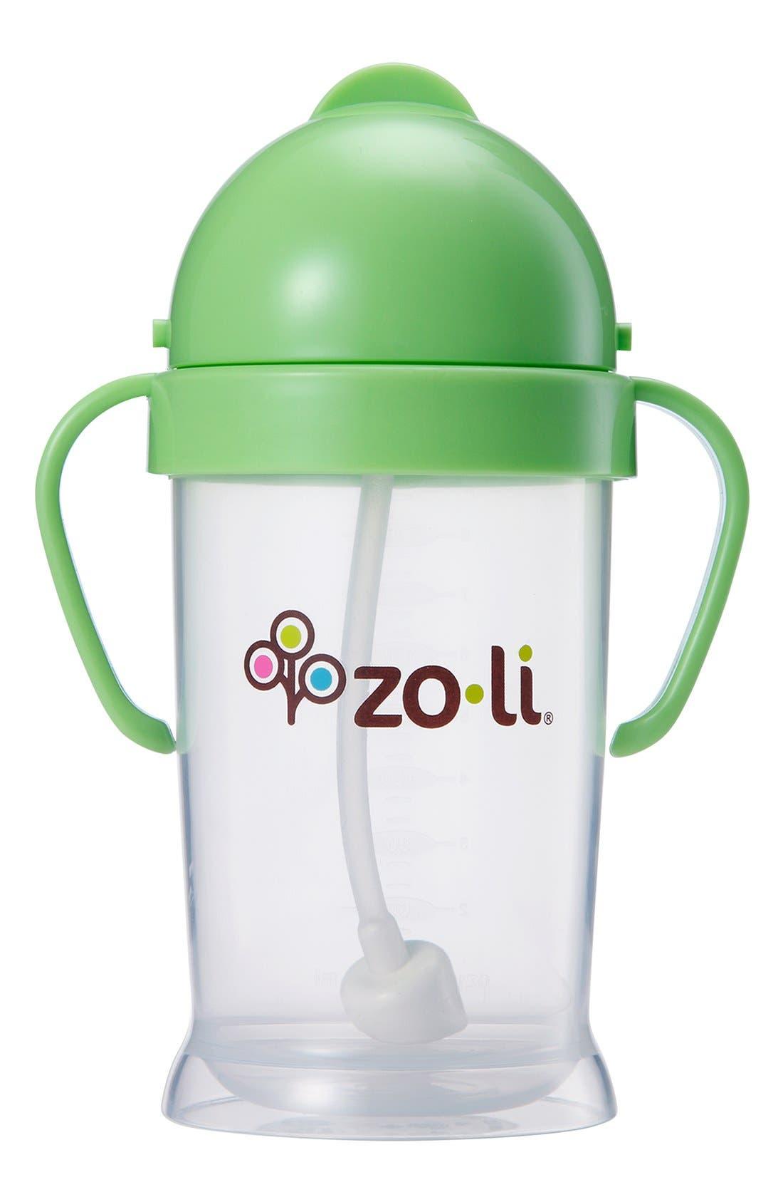 ZOLI, 'BOT XL' Sippy Cup, Alternate thumbnail 3, color, GREEN