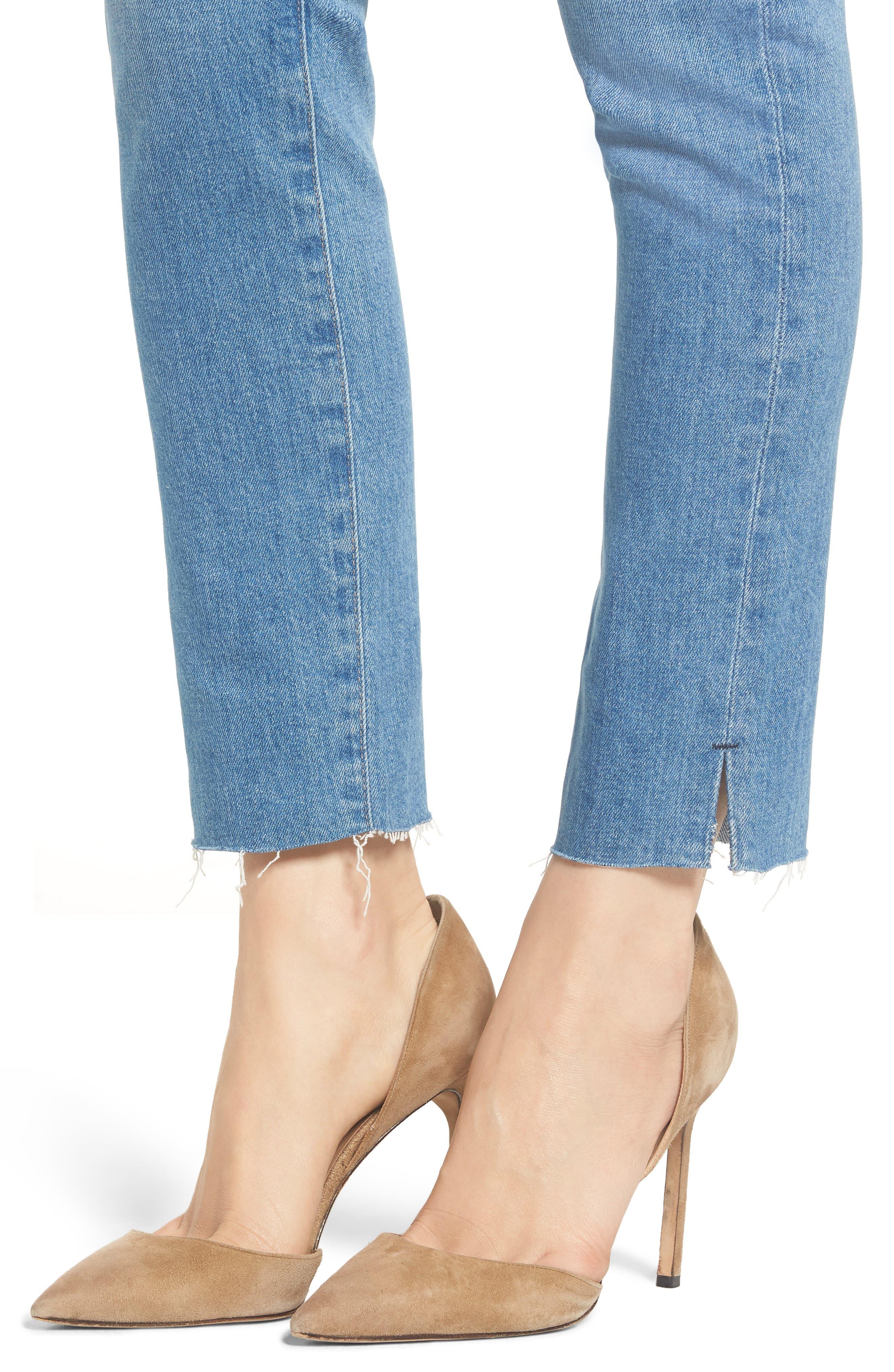 AG, Sophia Raw Hem High Waist Ankle Skinny Jeans, Alternate thumbnail 5, color, 467