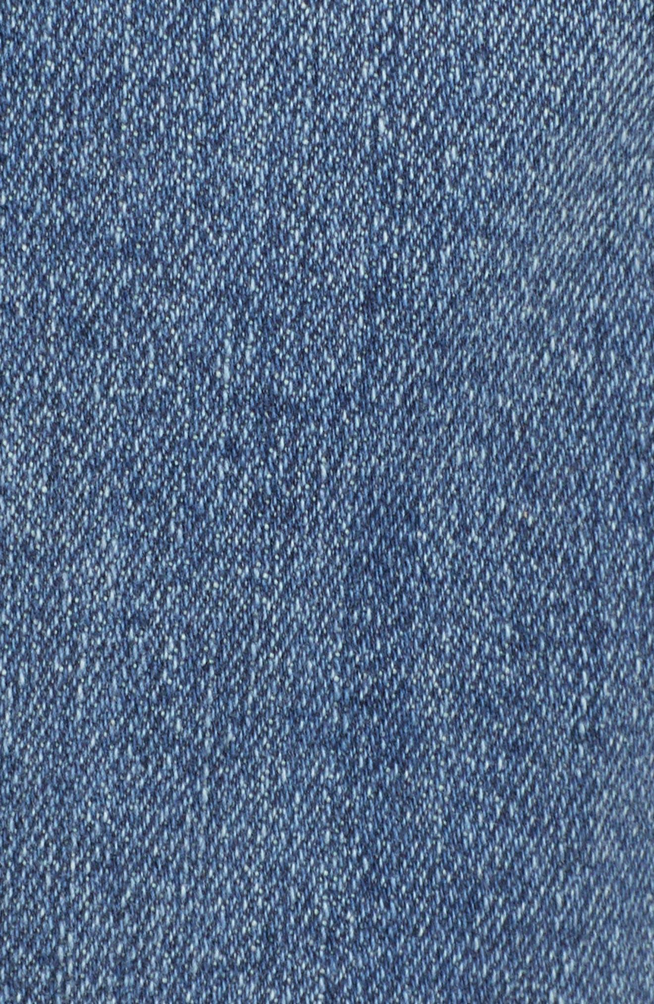 STS BLUE, Sophia High Waist Mom Jeans, Alternate thumbnail 6, color, CONEFLOWER MED WASH