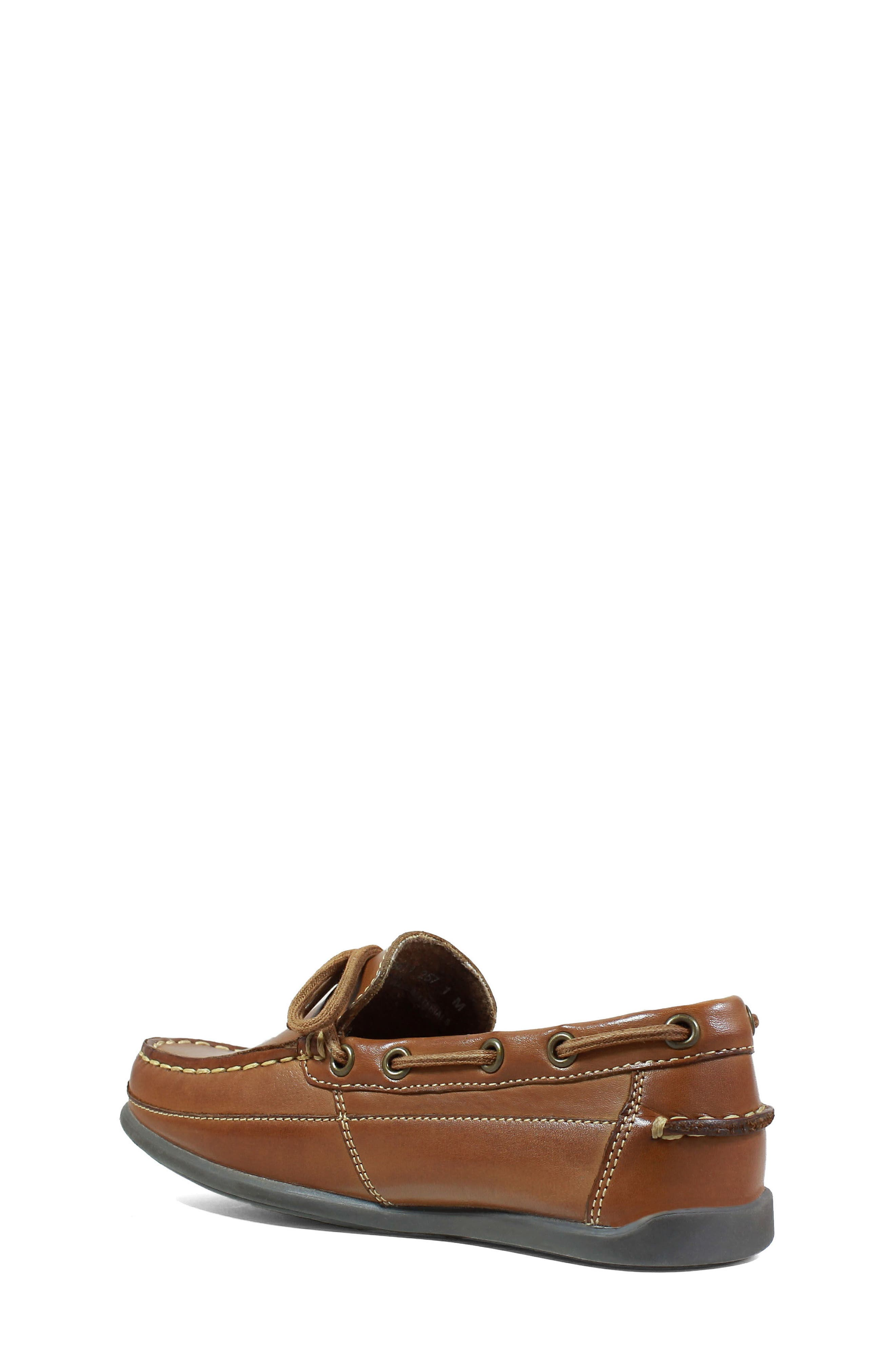 FLORSHEIM, Jasper Boat Shoe, Alternate thumbnail 2, color, SADDLE TAN