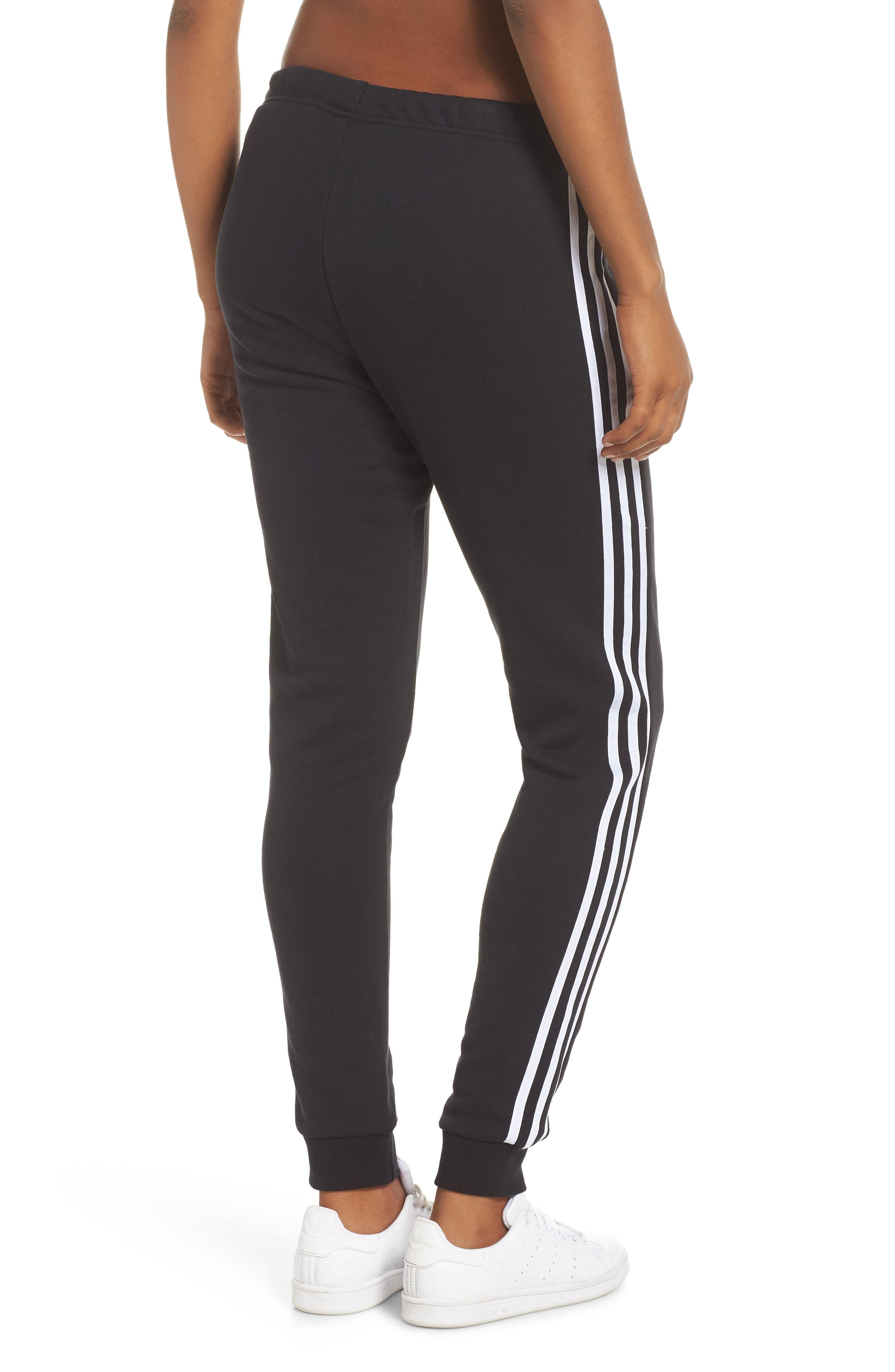 ADIDAS ORIGINALS, Cuffed Track Pants, Alternate thumbnail 2, color, BLACK