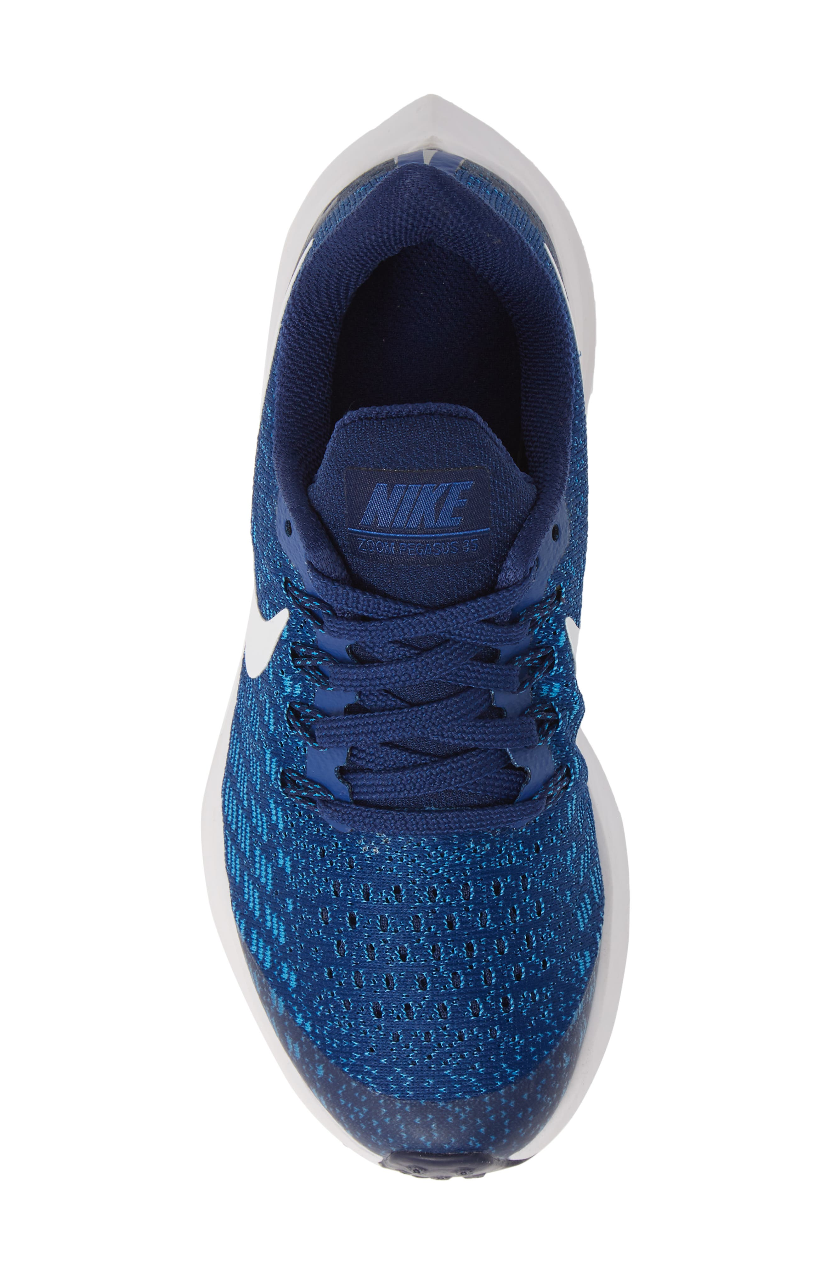 NIKE, Air Zoom Pegasus 35 Sneaker, Alternate thumbnail 5, color, INDIGO FORCE/ WHITE-BLUE-BLUE