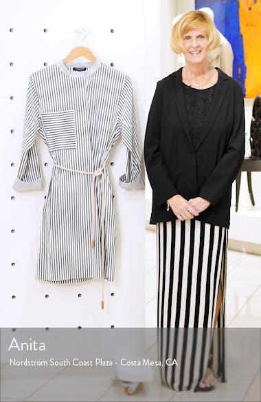 Rexana Stripe Long Sleeve Belted Shirtdress, sales video thumbnail