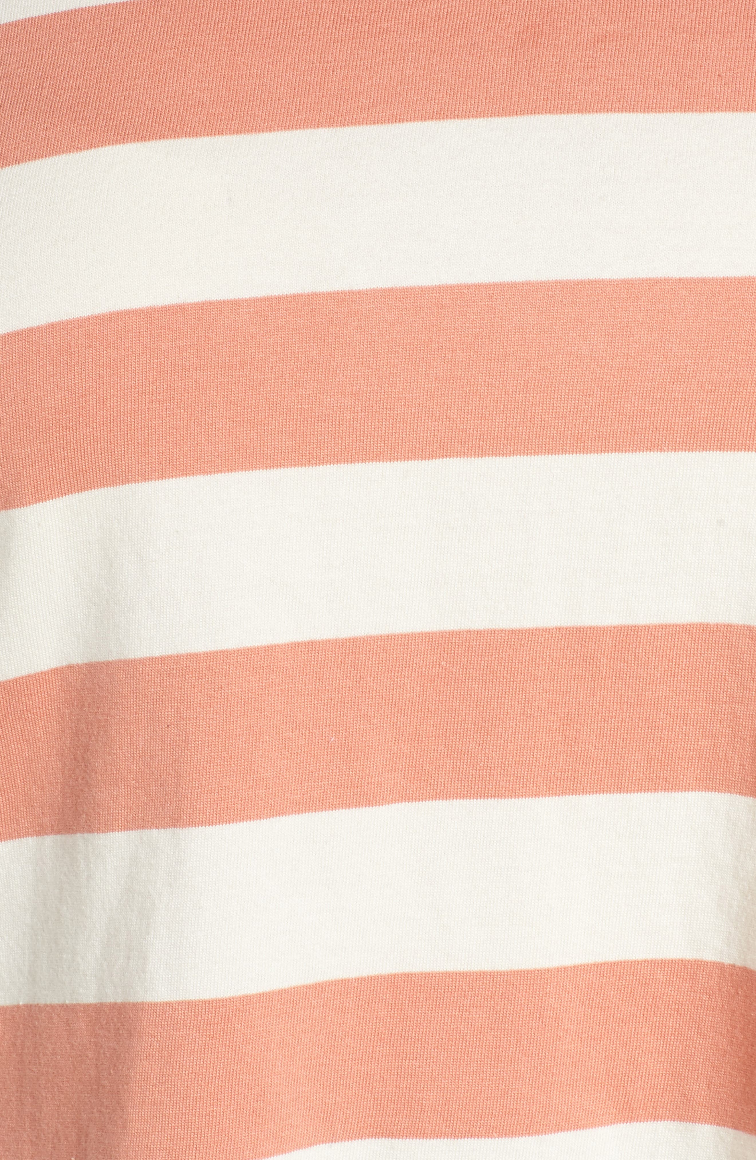 BP., Chambray Collar Polo, Alternate thumbnail 11, color, CORAL CLAY ROCKYPORT STRIPE