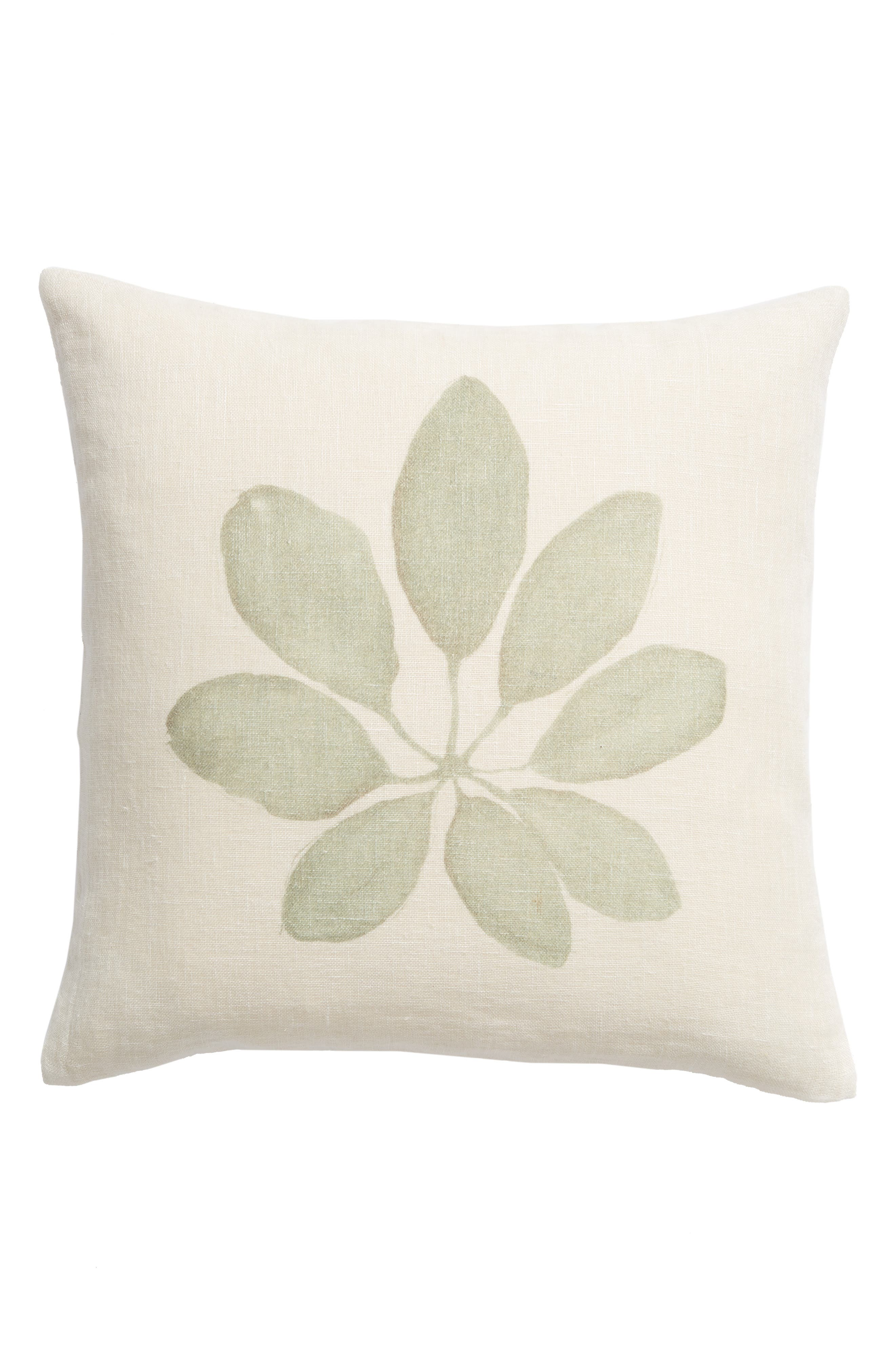 TREASURE & BOND, Leaf Accent Pillow, Main thumbnail 1, color, GREEN SHORE MULTI