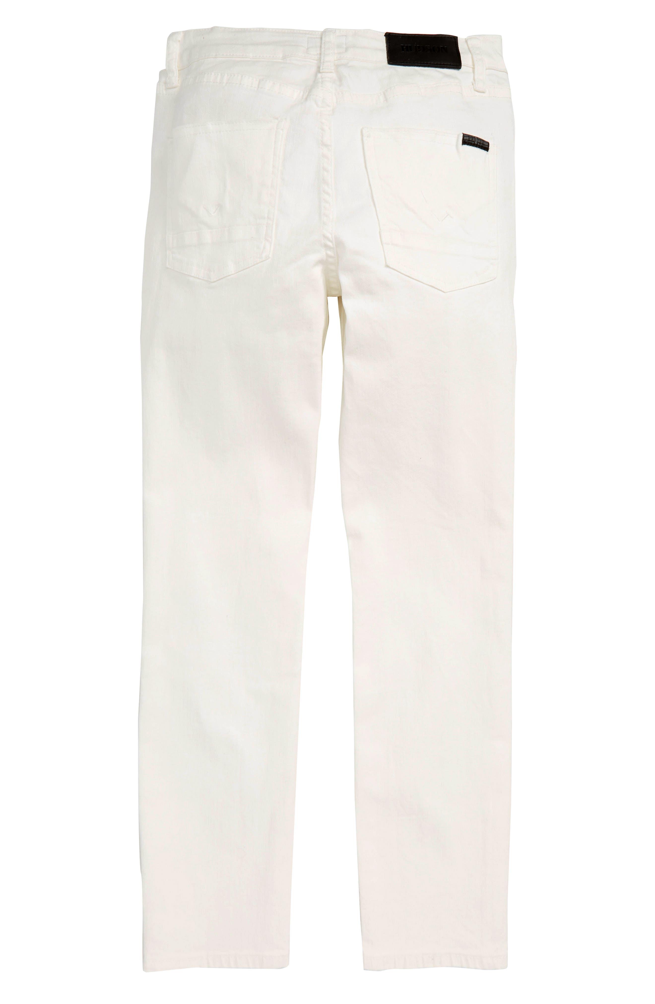 HUDSON KIDS, Straight Leg Jeans, Alternate thumbnail 2, color, MOONSHINE