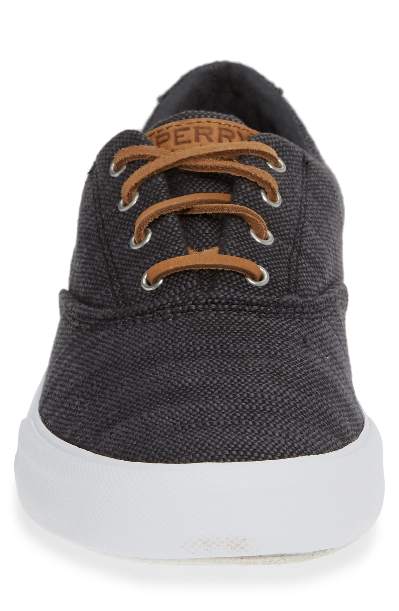 SPERRY, Striper II Baja CVO Sneaker, Alternate thumbnail 4, color, BLACK