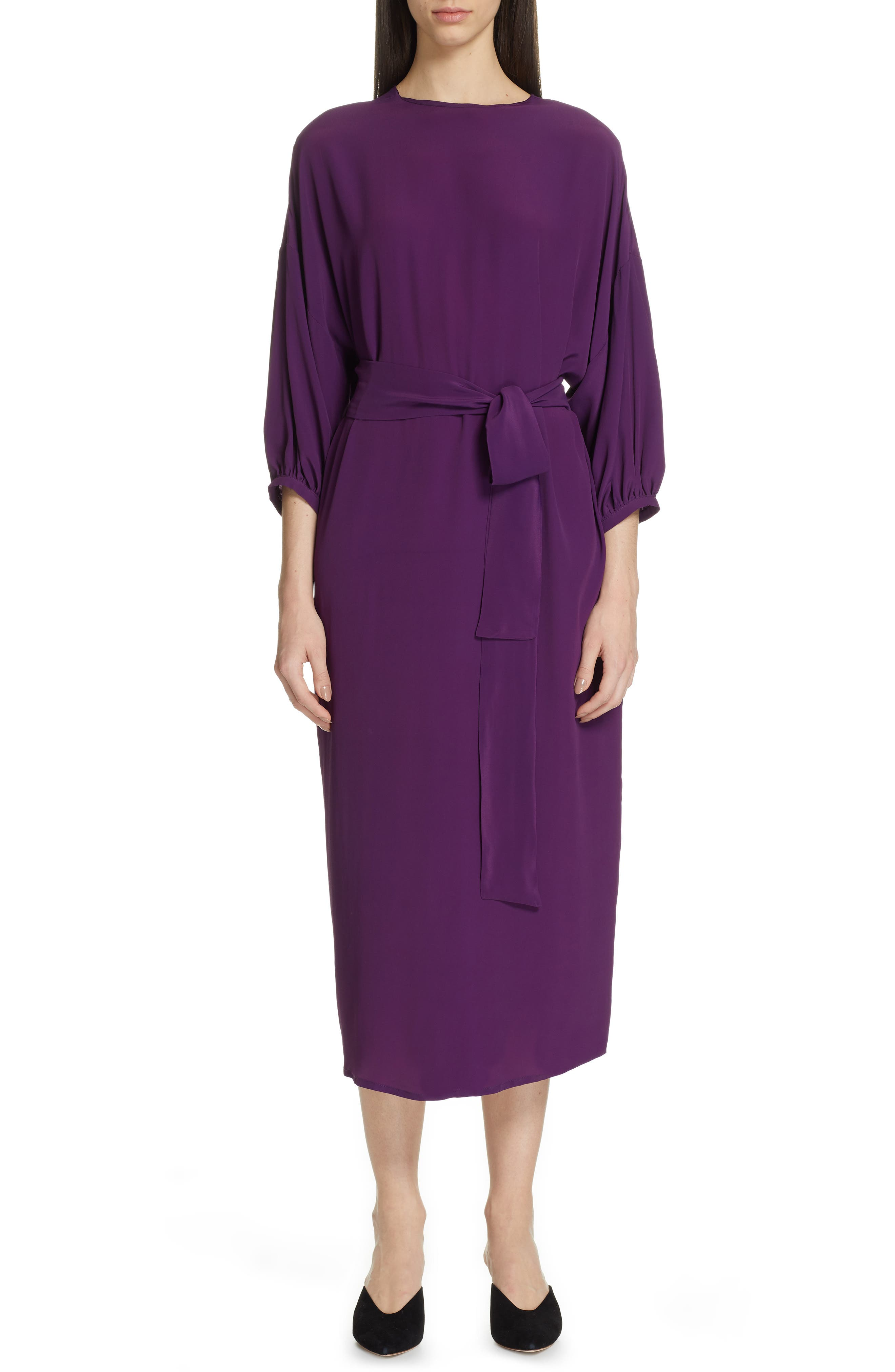 Roseanna Tie Waist Midi Dress, 8 FR - Purple