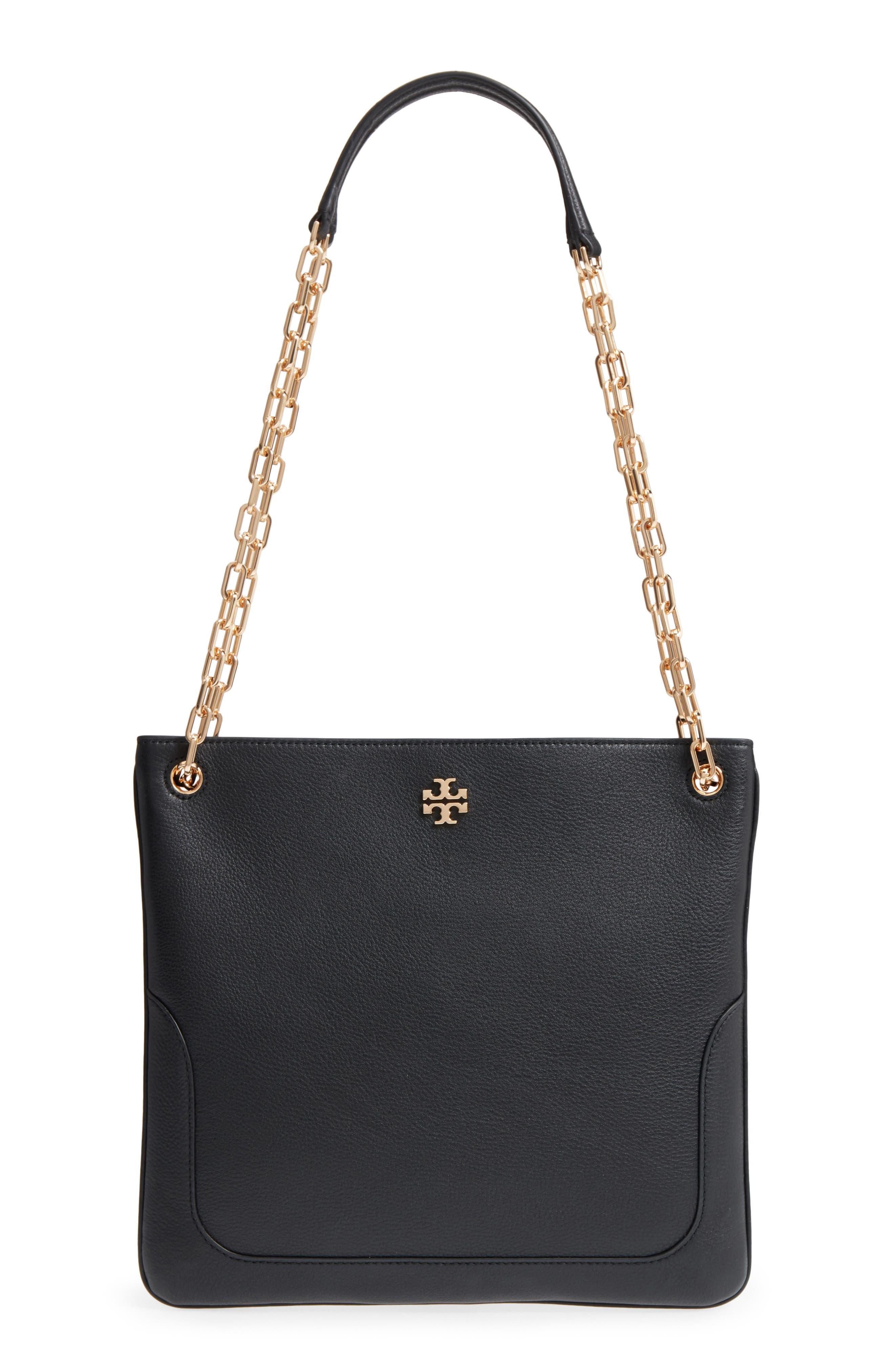 TORY BURCH, Marsden Swingpack Leather Crossbody Bag, Main thumbnail 1, color, 001