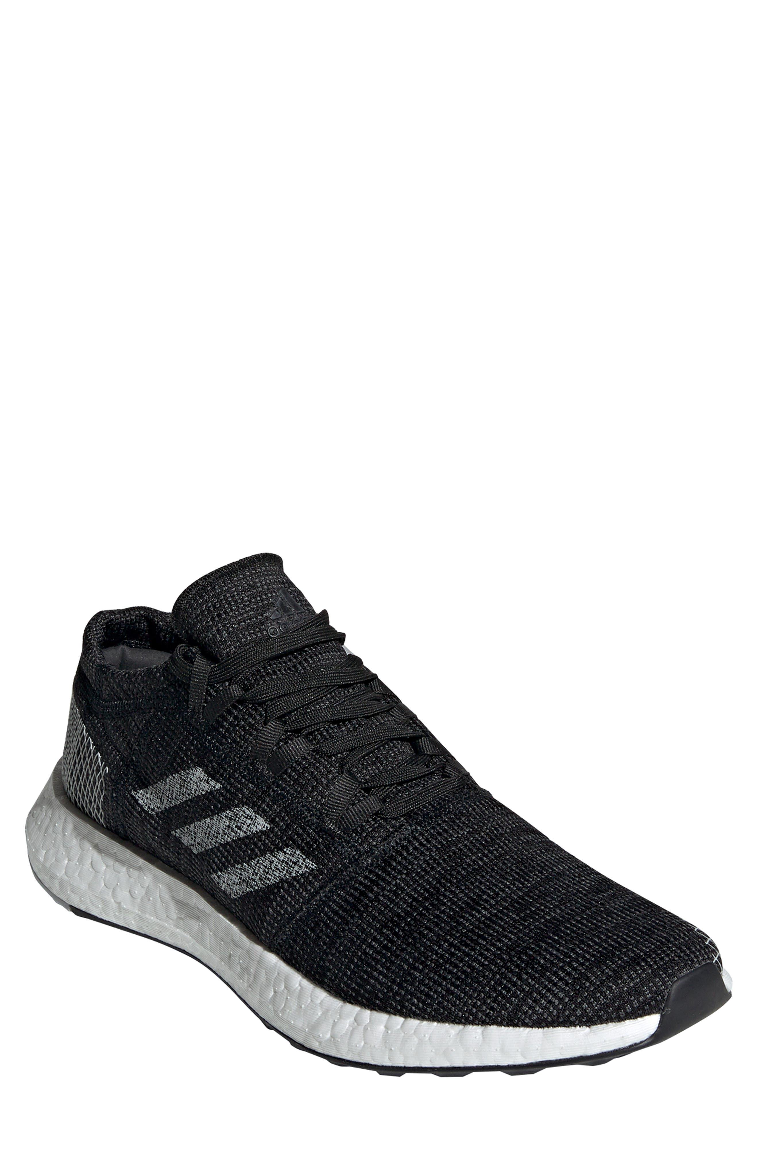 ADIDAS, PureBoost Go Running Shoe, Main thumbnail 1, color, CORE BLACK/ GREY