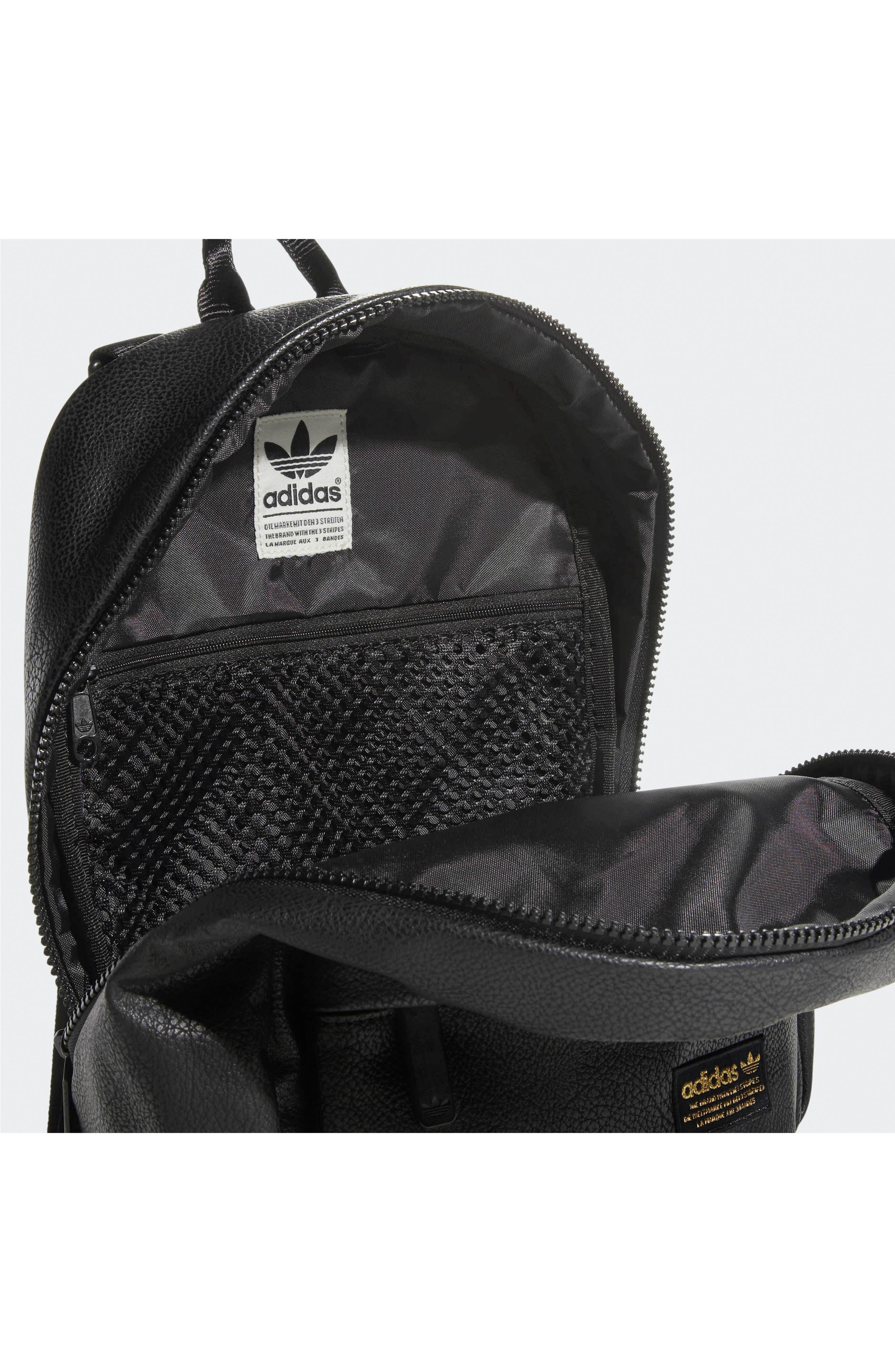 ADIDAS ORIGINALS, National Compact Backpack, Alternate thumbnail 3, color, 001