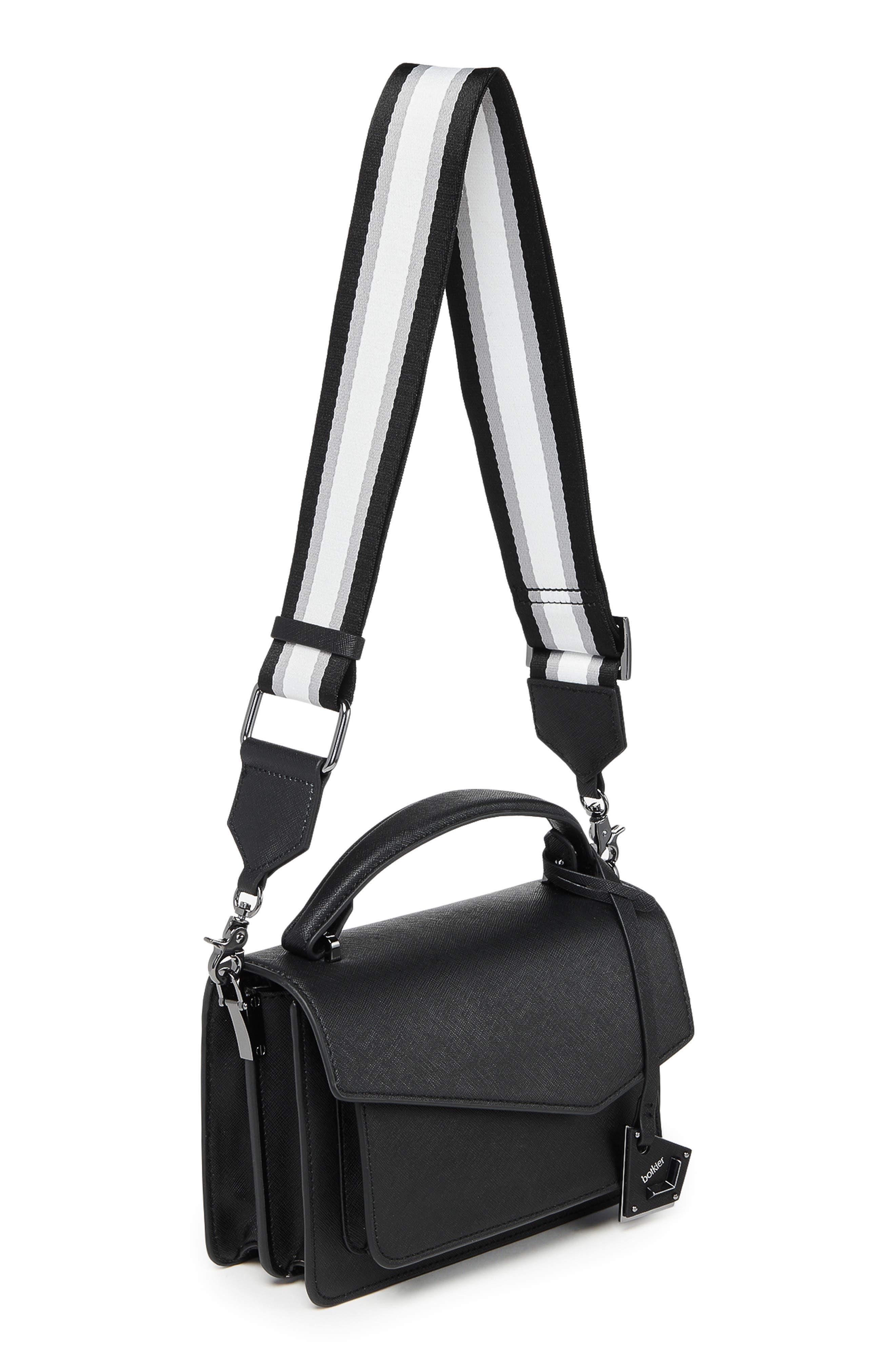 BOTKIER, Cobble Hill Leather Crossbody Bag, Alternate thumbnail 5, color, BLACK