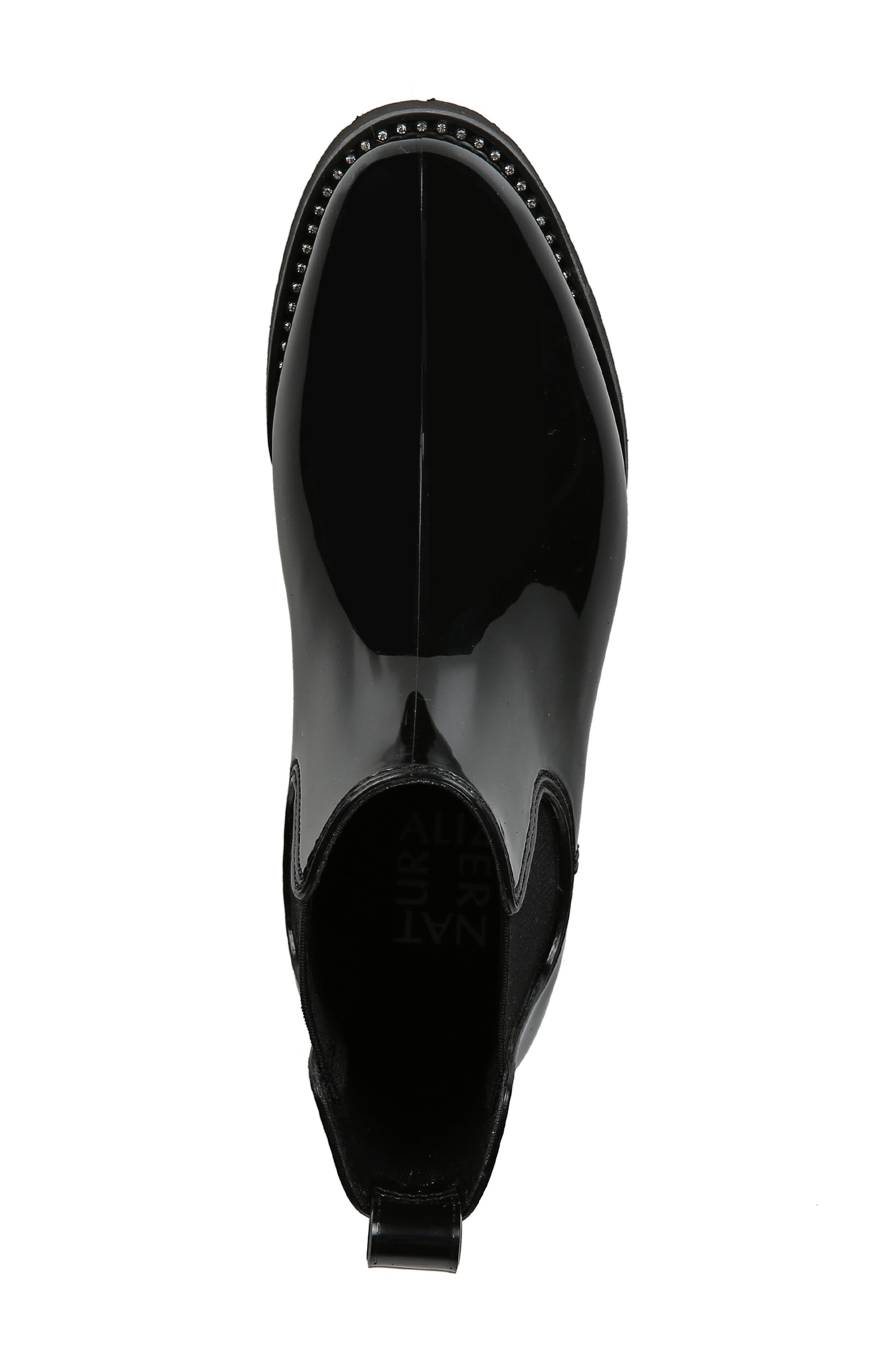 NATURALIZER, Luna Waterproof Chelsea Boot, Alternate thumbnail 5, color, BLACK