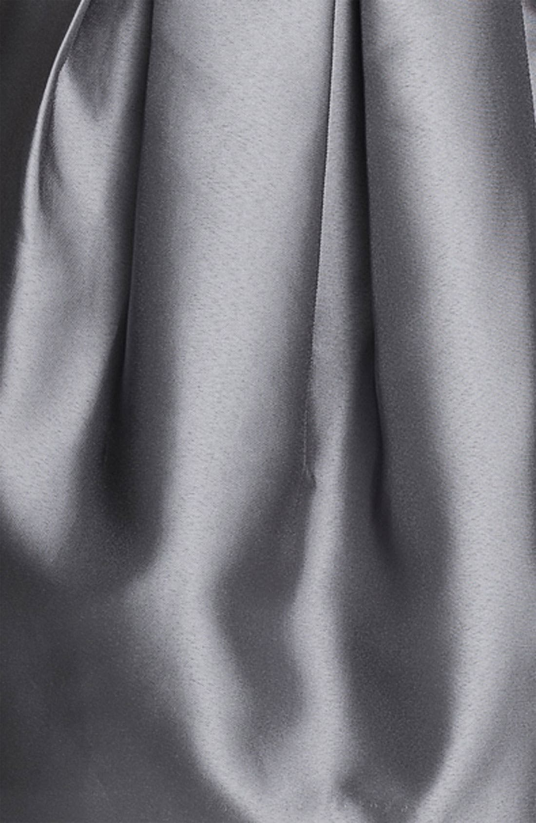 ELIZA J, Sweetheart Neckline Taffeta Tulip Dress, Alternate thumbnail 3, color, 040