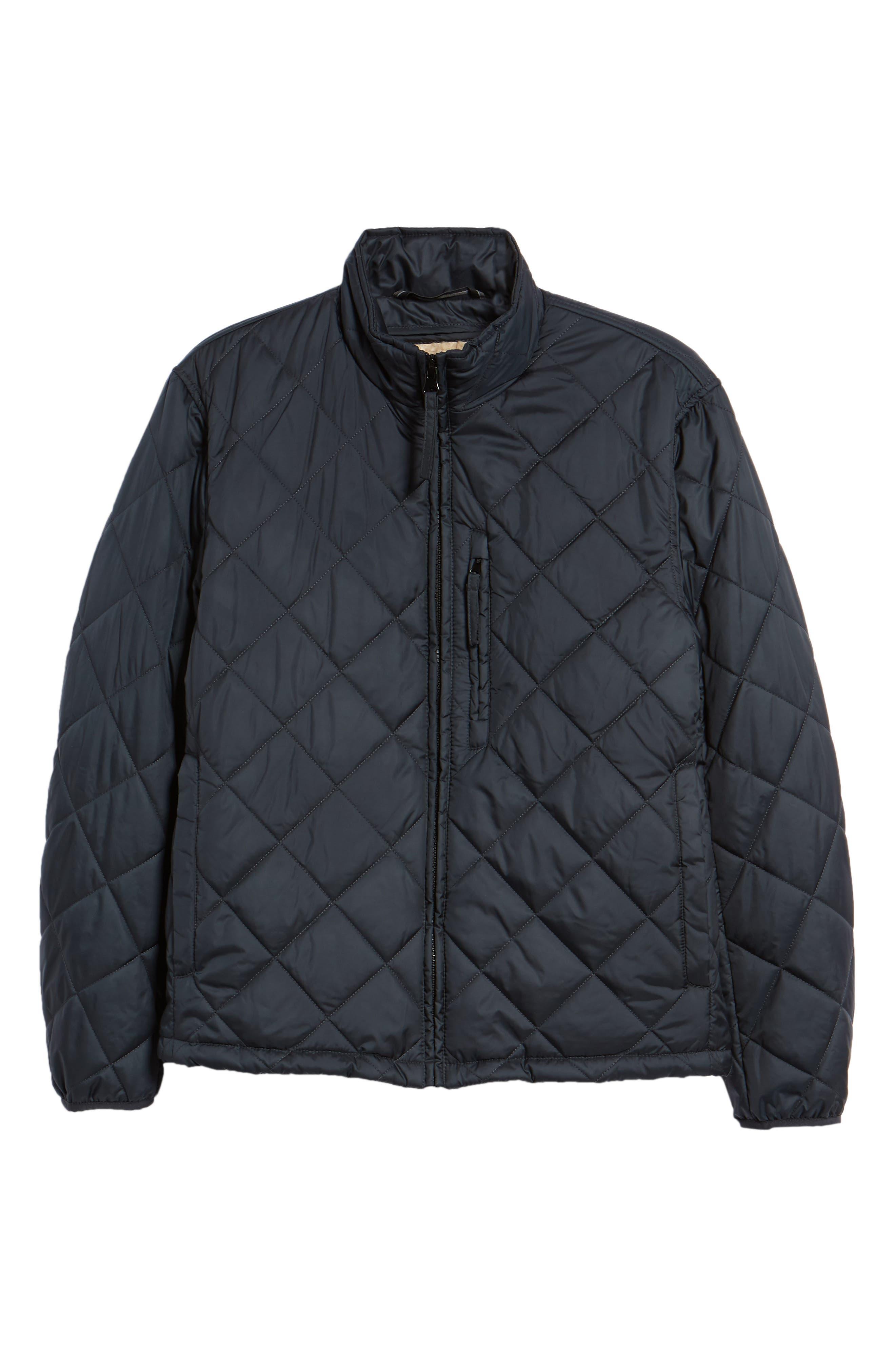 MARC NEW YORK, Humboldt Quilted Jacket, Alternate thumbnail 6, color, BLACK