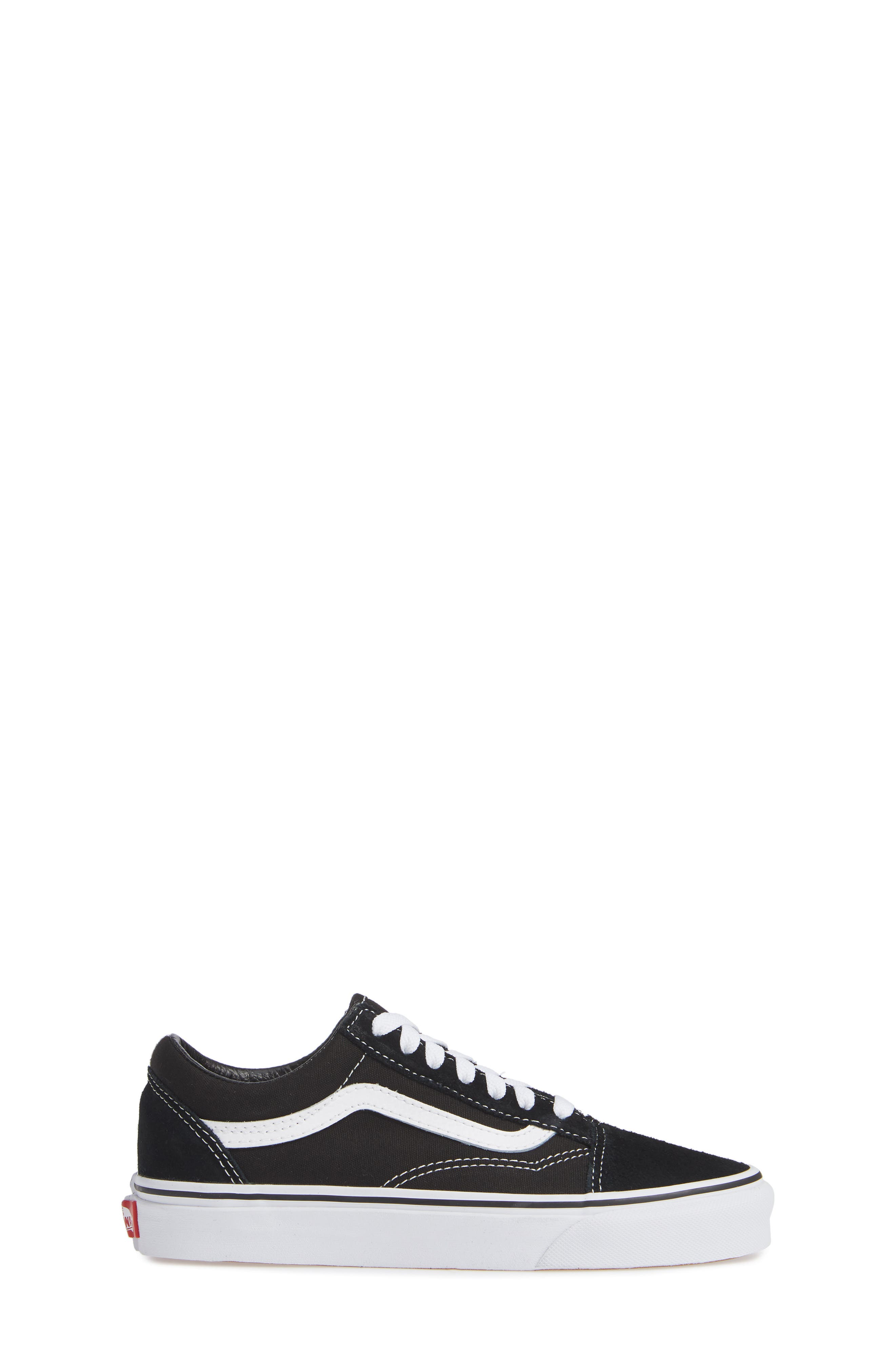 VANS, 'Old Skool' Skate Sneaker, Alternate thumbnail 3, color, BLACK/ WHITE SUEDE CANVAS