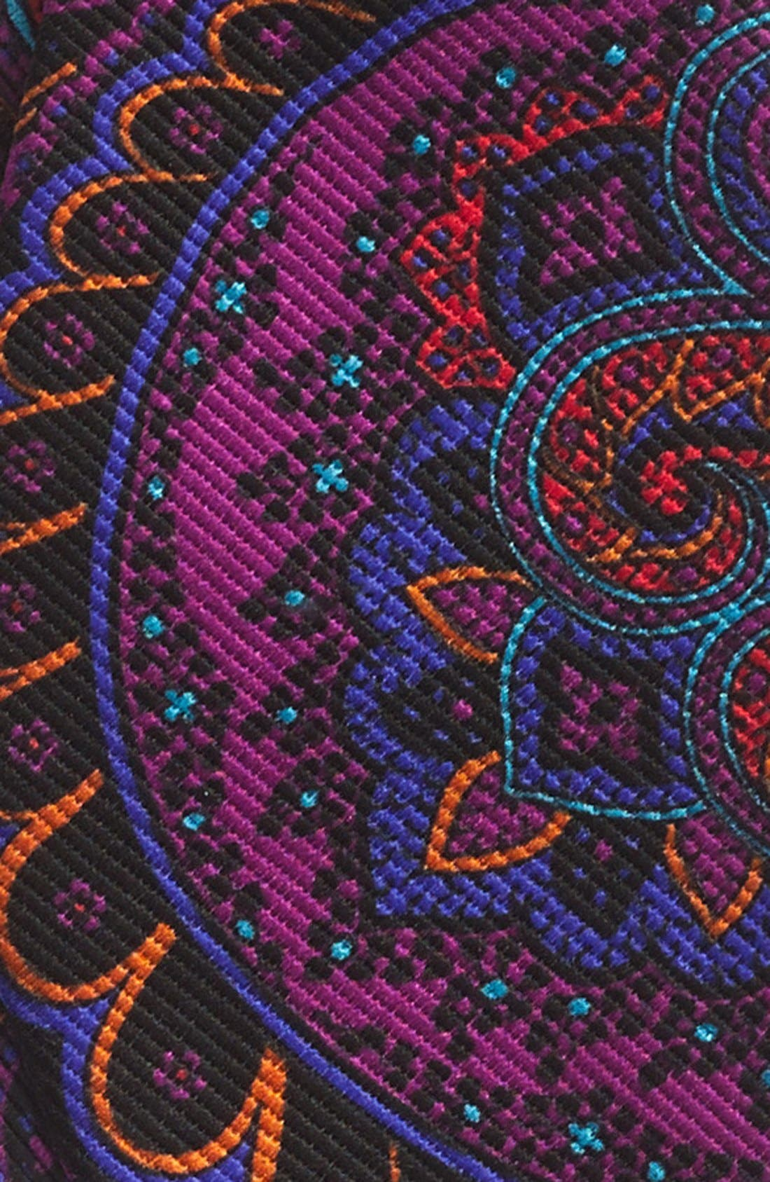 TED BAKER LONDON, Silk Bow Tie, Alternate thumbnail 3, color, 001