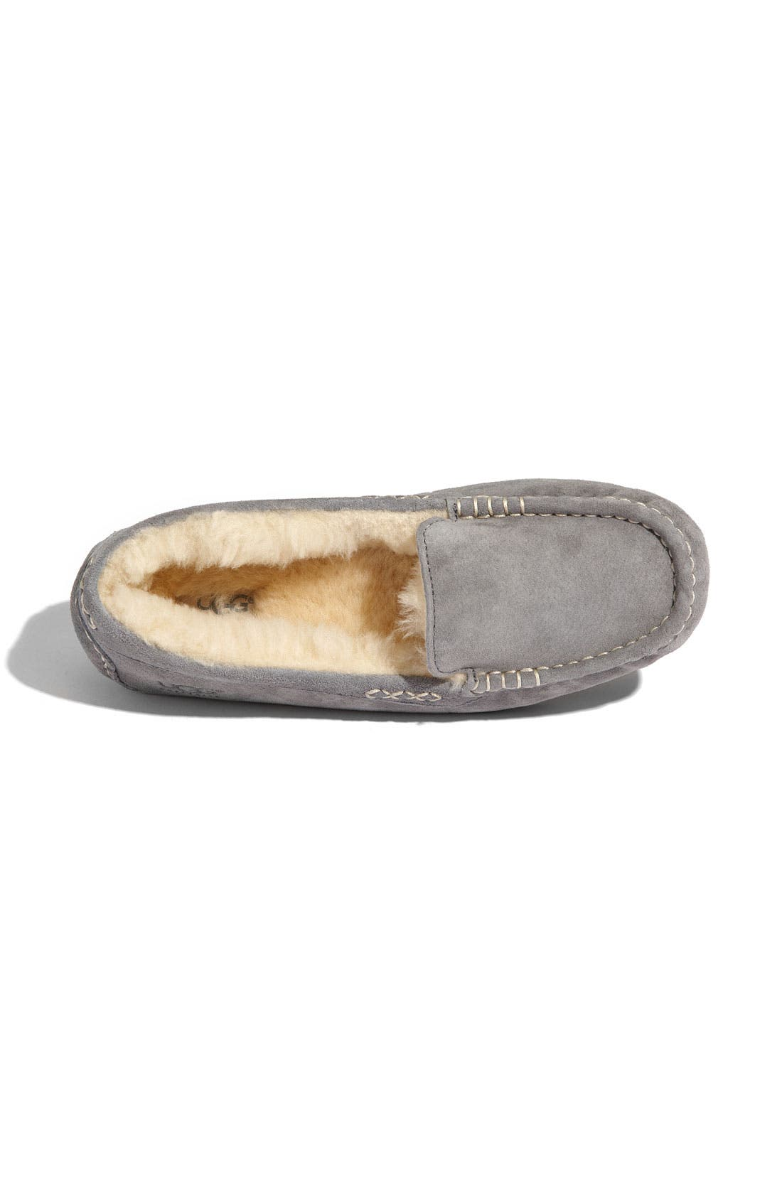 UGG<SUP>®</SUP>, Ansley Water Resistant Slipper, Alternate thumbnail 9, color, LIGHT GREY
