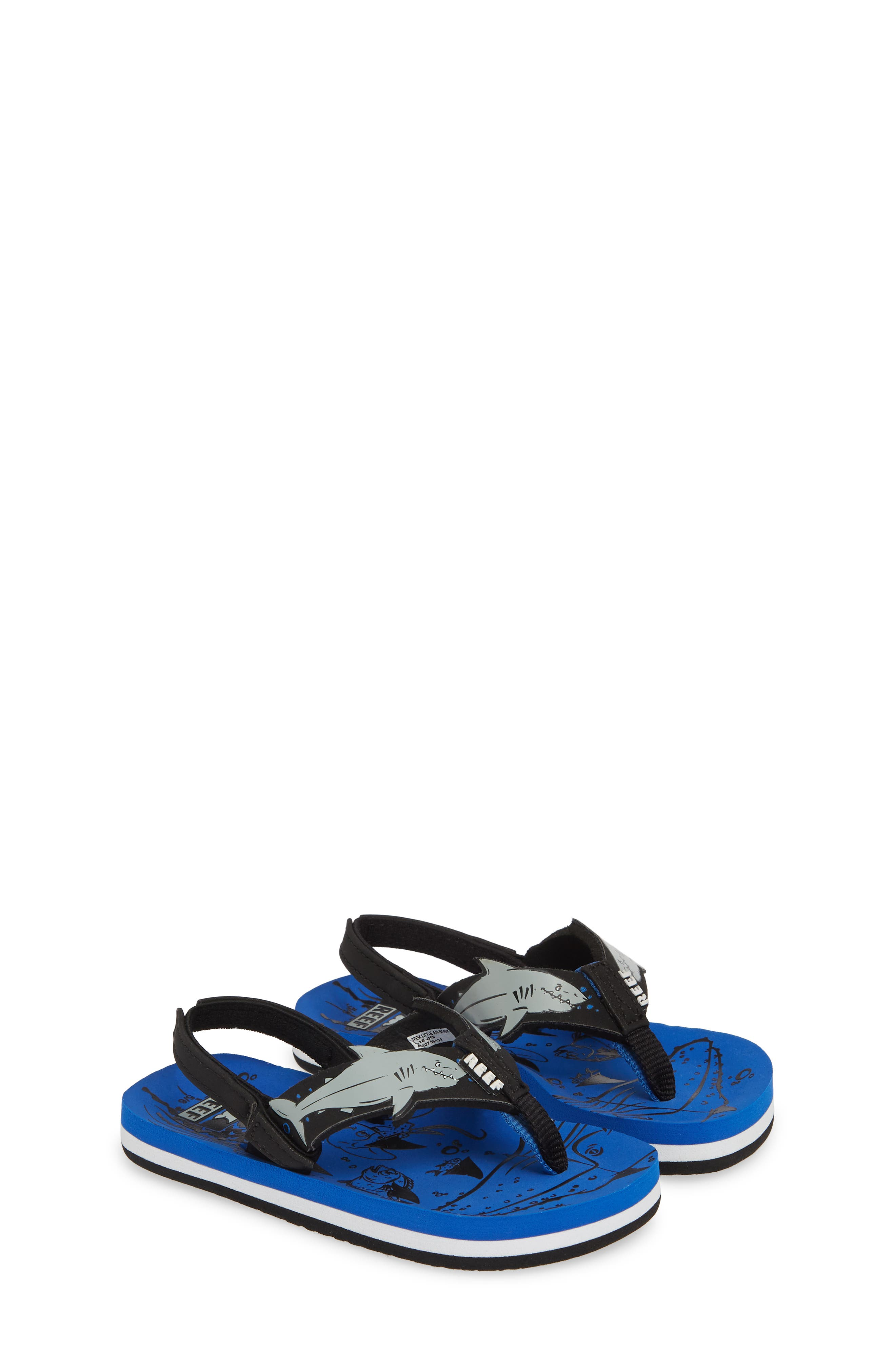REEF, Ahi Shark Flip Flop, Alternate thumbnail 2, color, BLUE