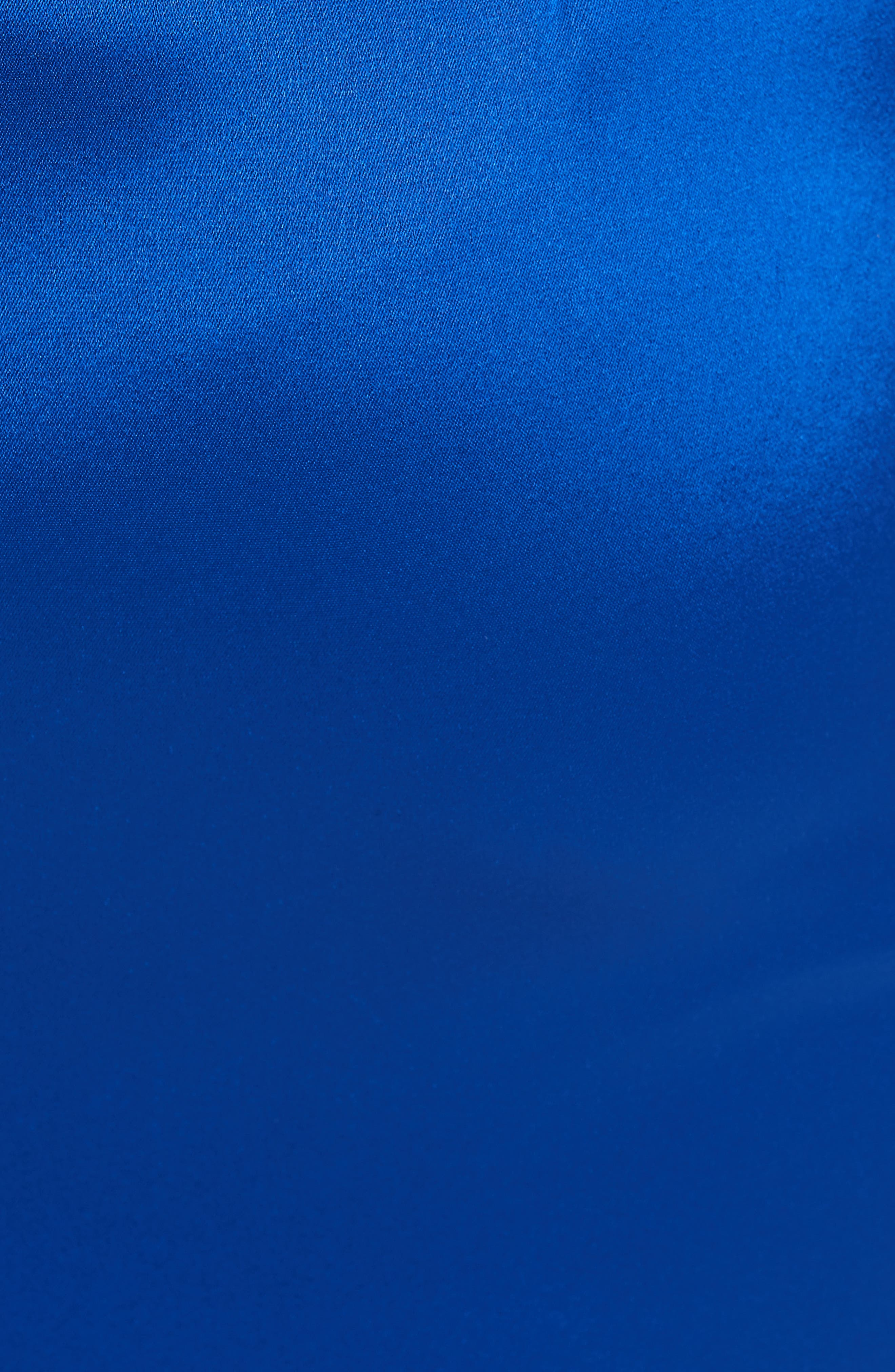 ST. JOHN COLLECTION, Lighweight Liquid Satin Dress, Alternate thumbnail 6, color, AZZURINE