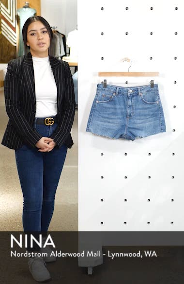 Premium Denim Mom Shorts, sales video thumbnail
