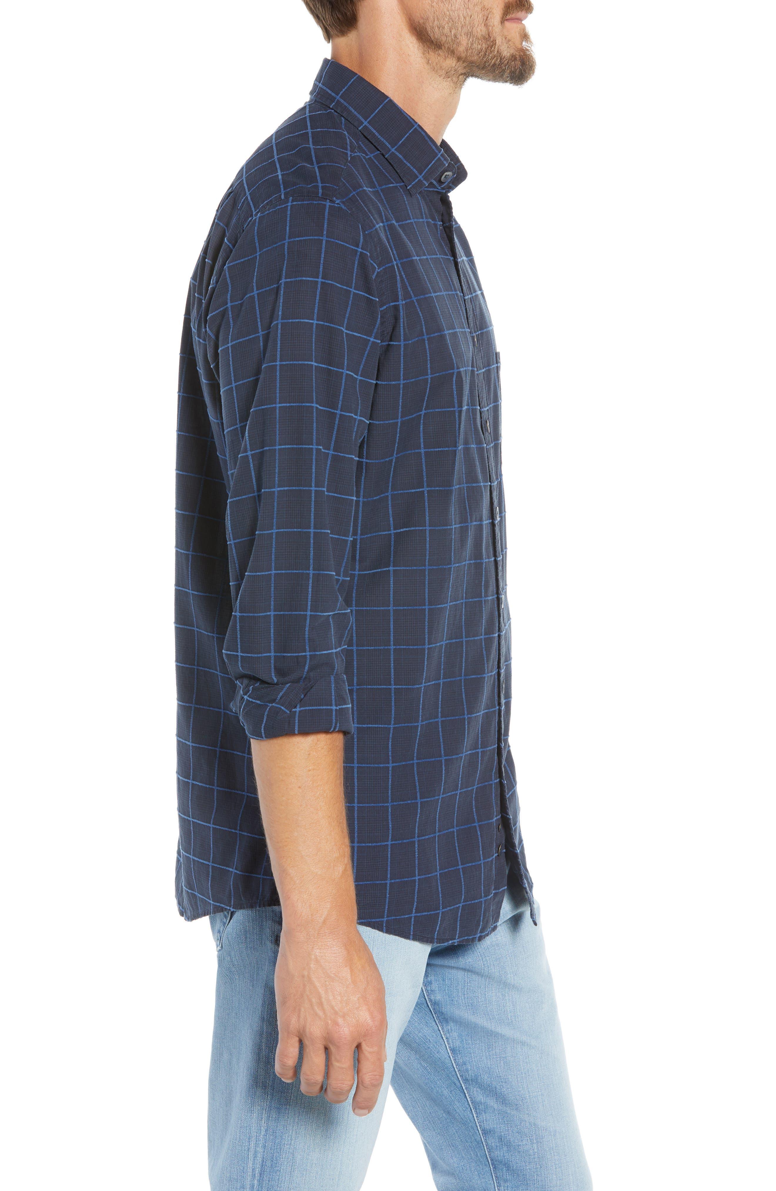 RODD & GUNN, Hindley Creek Regular Fit Sport Shirt, Alternate thumbnail 4, color, NAVY