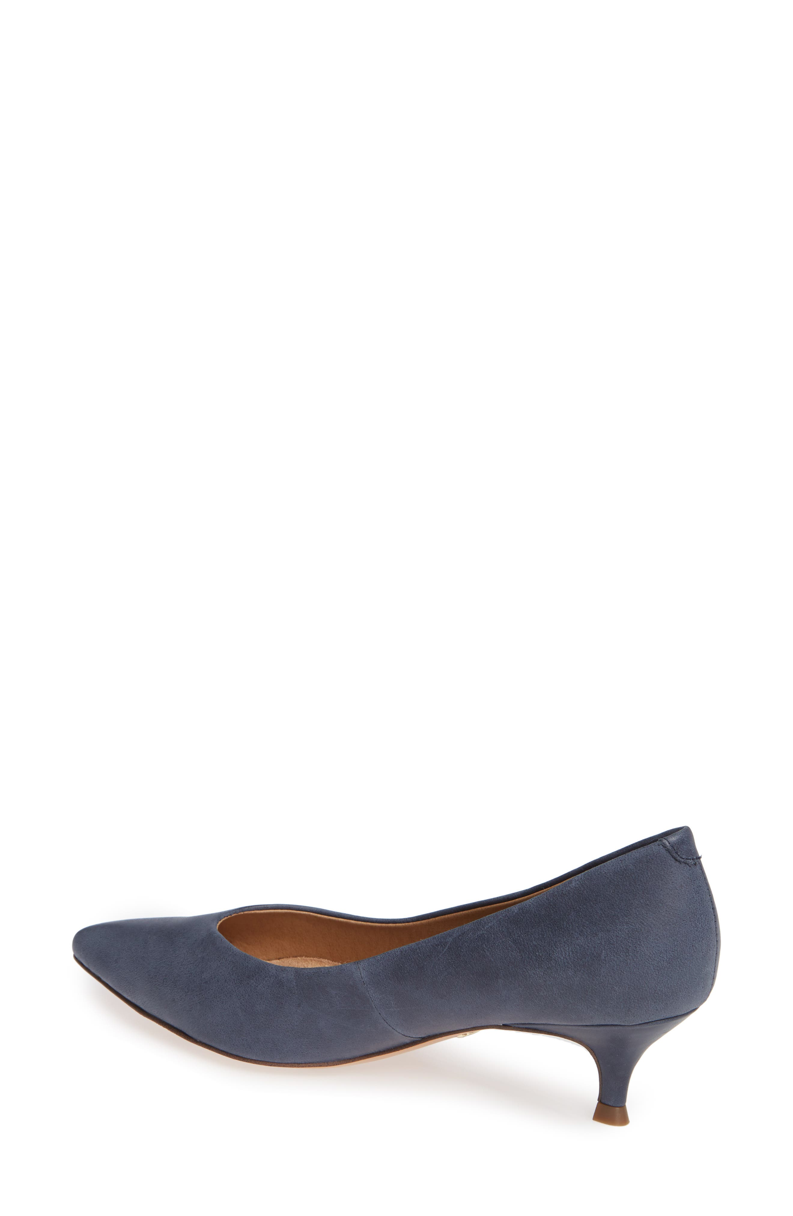 VIONIC, Josie Kitten Heel Pump, Alternate thumbnail 2, color, NAVY LEATHER