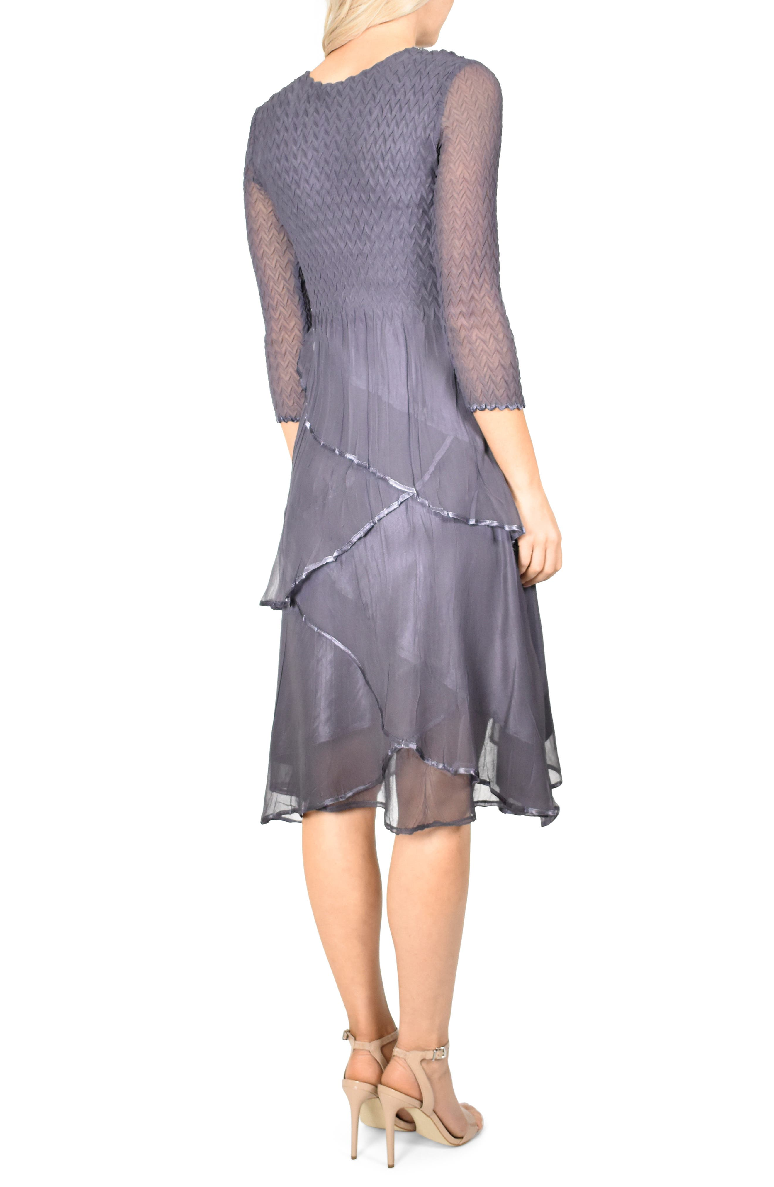 KOMAROV, Tiered Hem Dress, Alternate thumbnail 2, color, 500