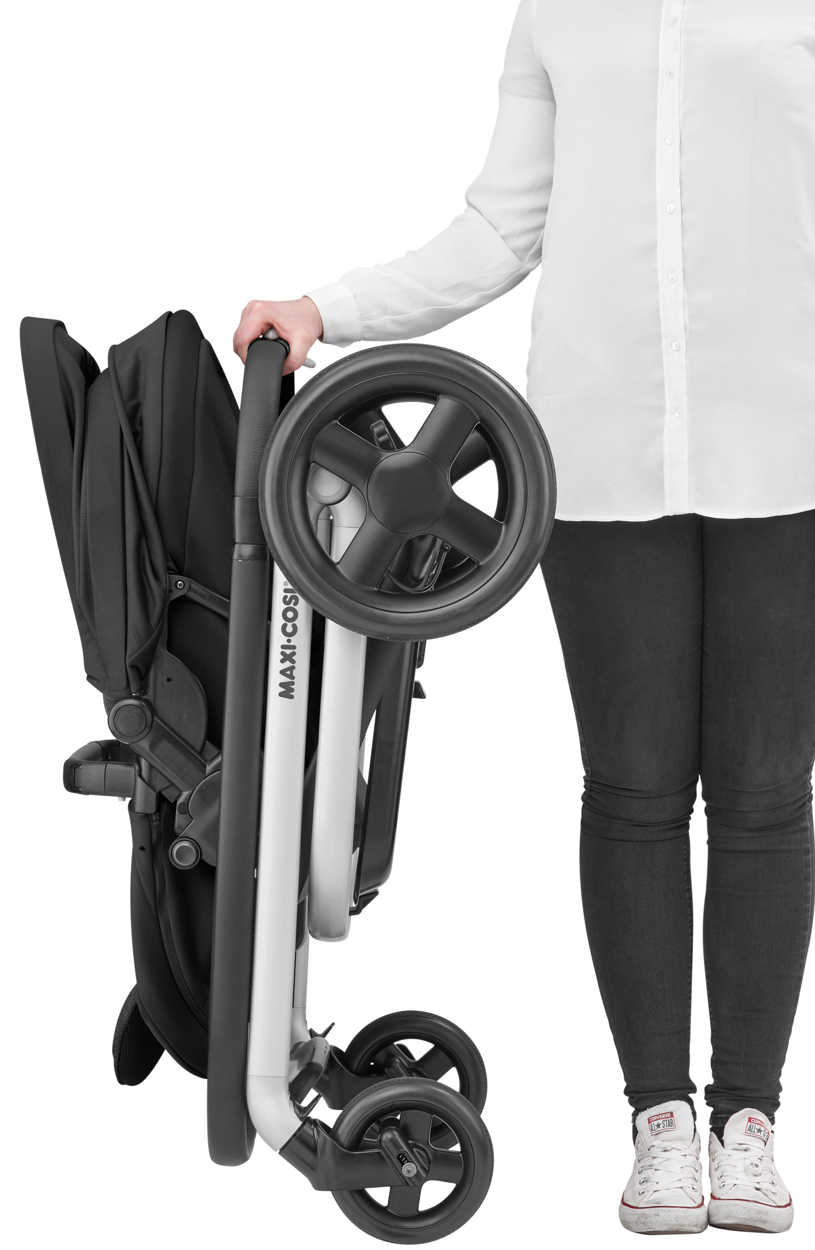 MAXI-COSI<SUP>®</SUP>, Lila Modular Stroller, Alternate thumbnail 7, color, NOMAD BLACK