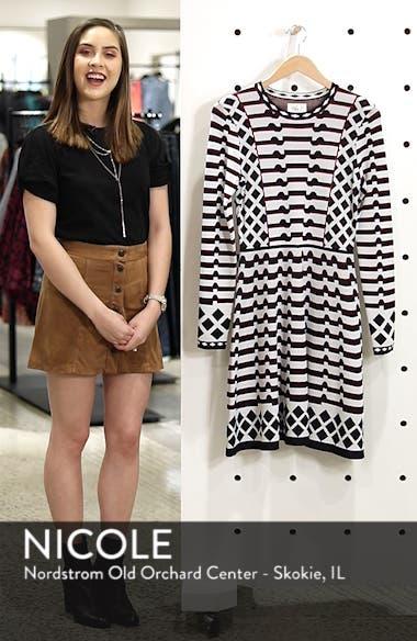 Artwork Jacquard Sweater Dress, sales video thumbnail