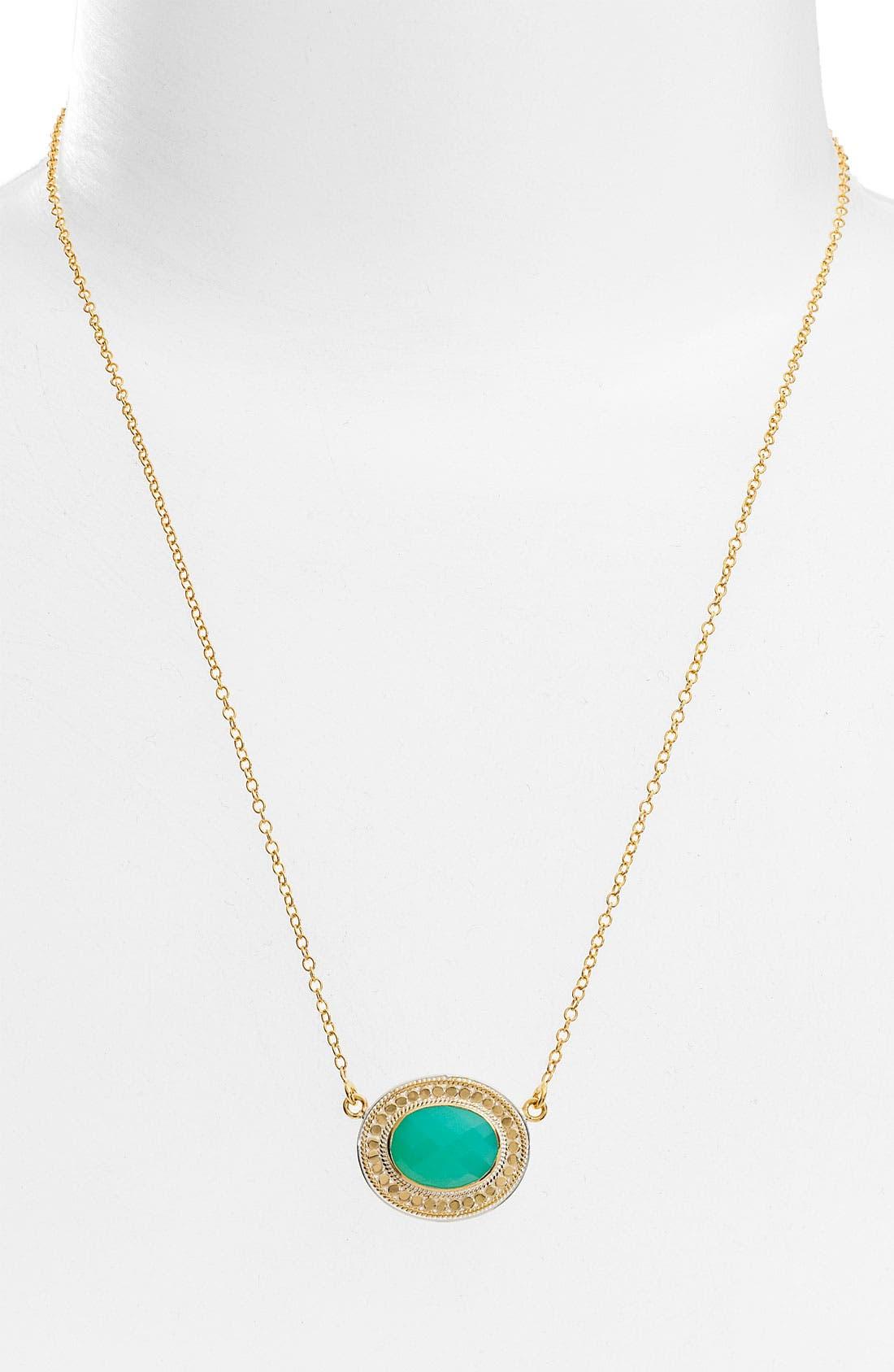 ANNA BECK, 'Gili' Oval Disc Necklace, Main thumbnail 1, color, 710