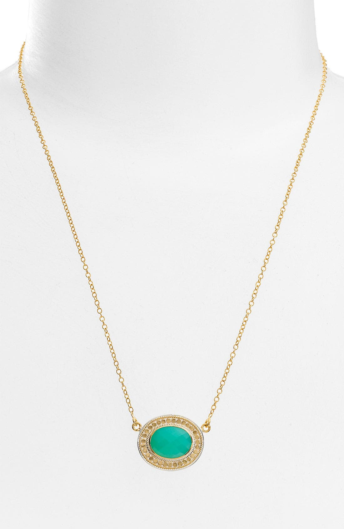 ANNA BECK 'Gili' Oval Disc Necklace, Main, color, 710
