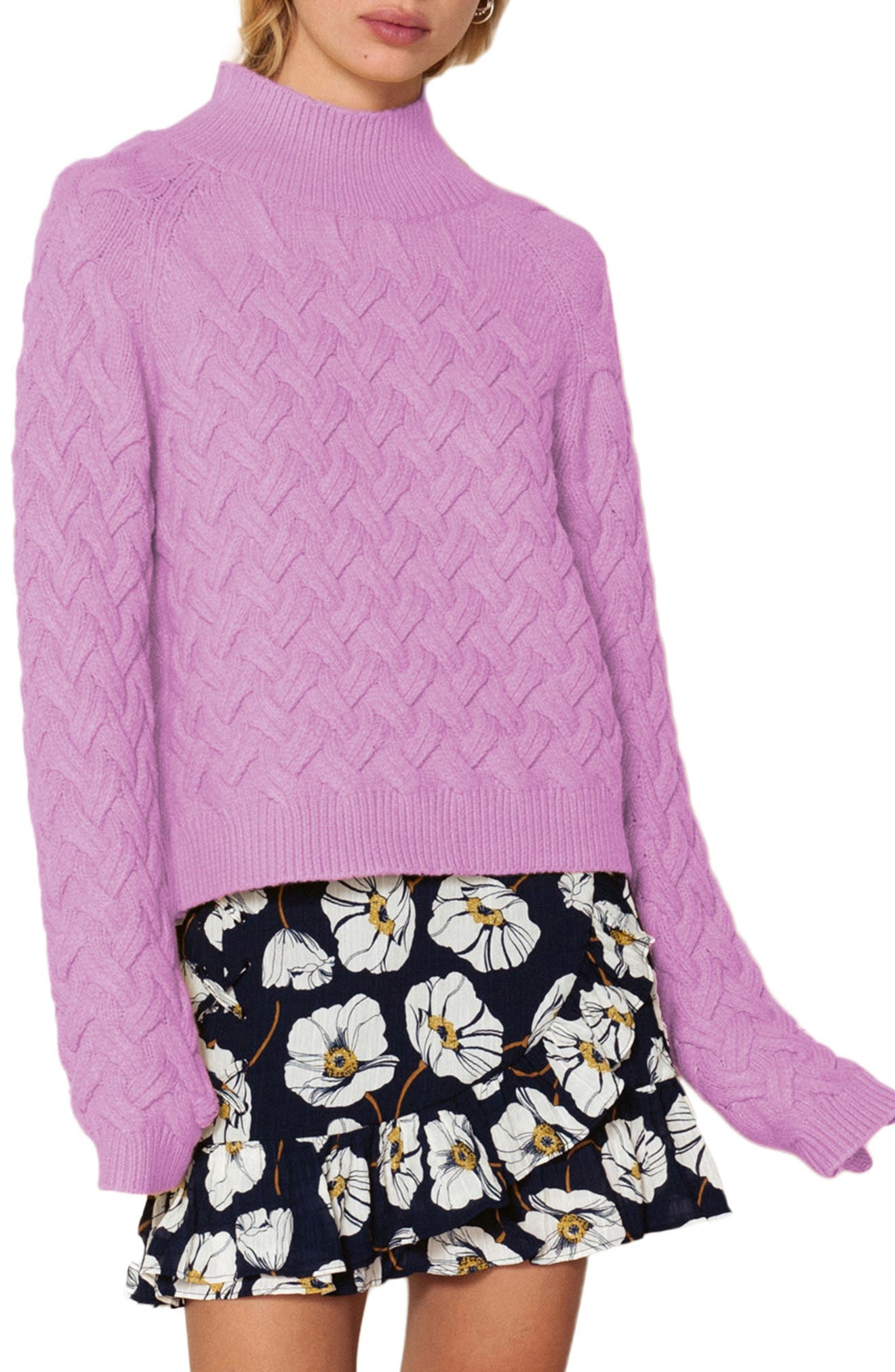 THE EAST ORDER, Adele Turtleneck Sweater, Main thumbnail 1, color, 534