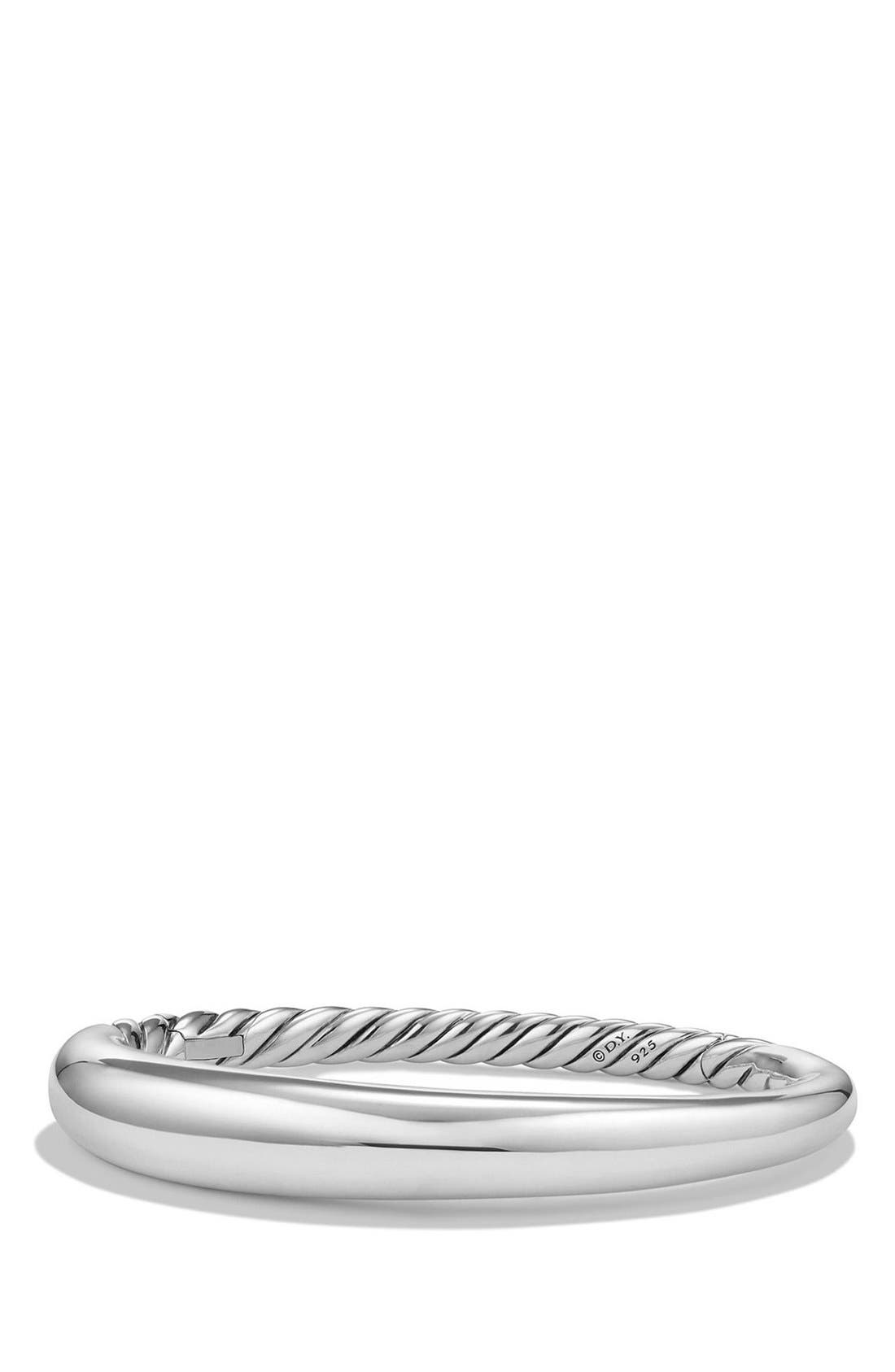 DAVID YURMAN, 'Pure Form' Small Sterling Silver Bracelet, Main thumbnail 1, color, SILVER