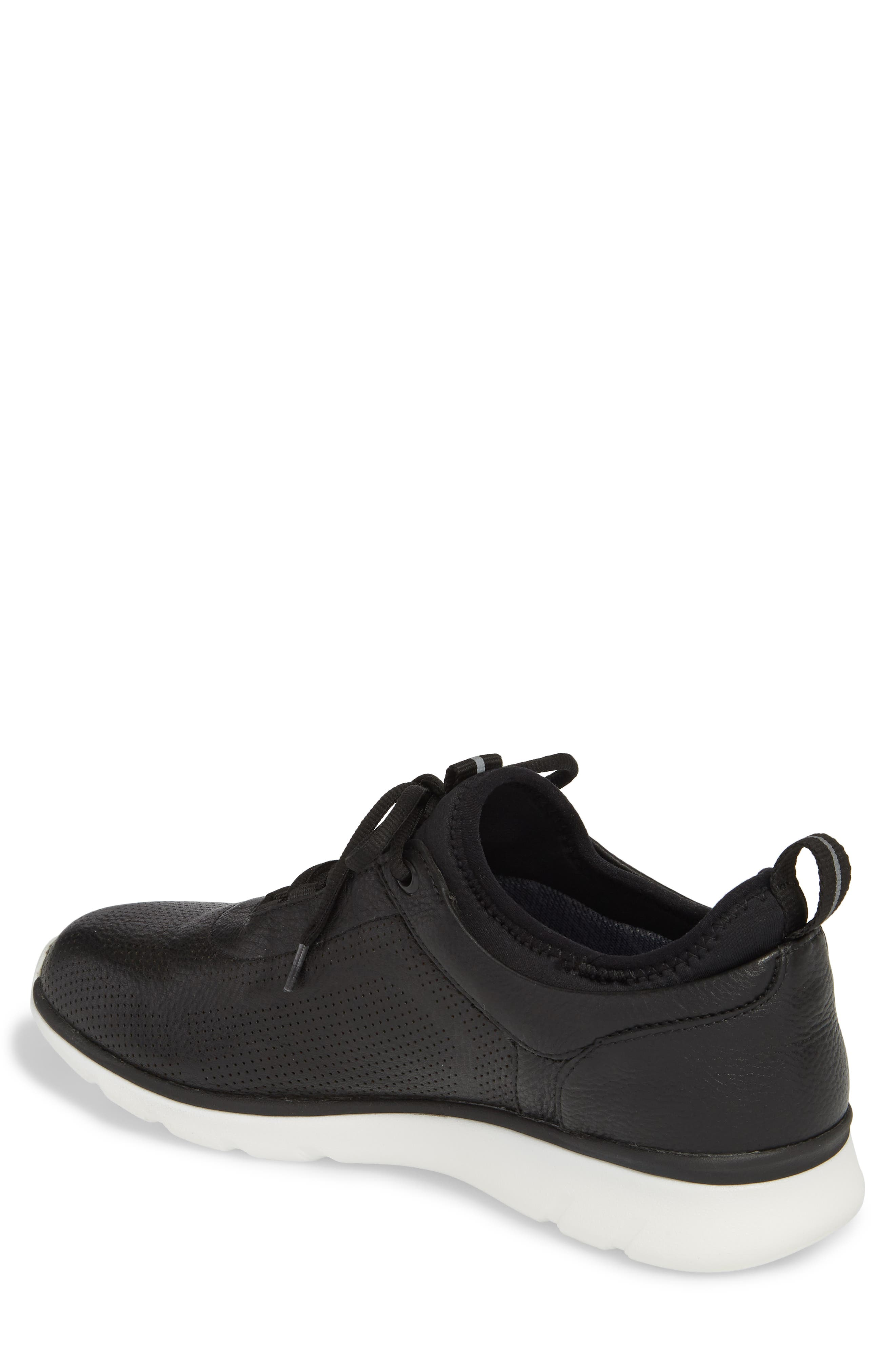 JOHNSTON & MURPHY, Prentiss XC4<sup>®</sup> Waterproof Sneaker, Alternate thumbnail 2, color, BLACK LEATHER