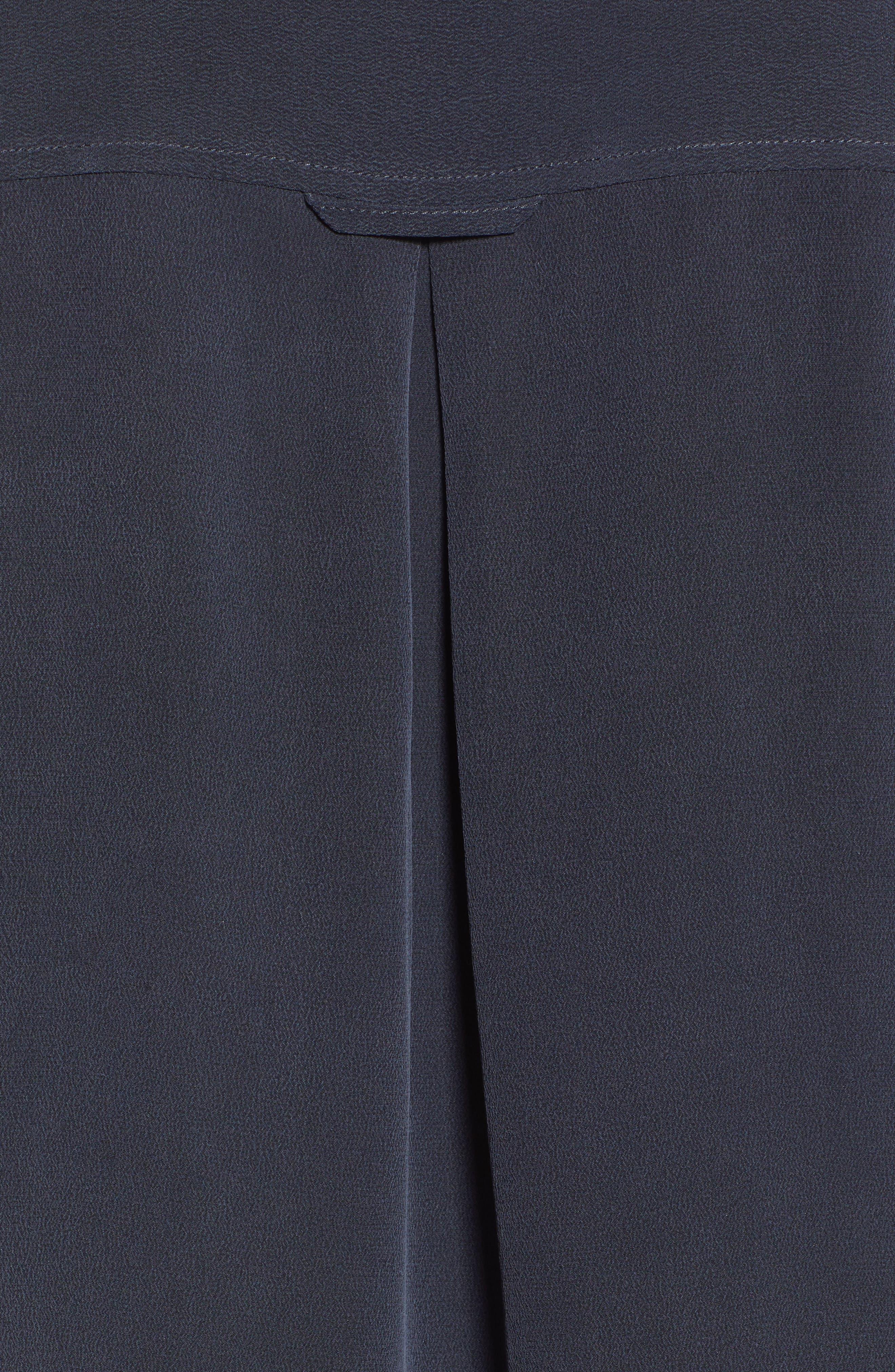 RAILS, Rhett Silk Shirt, Alternate thumbnail 5, color, 021