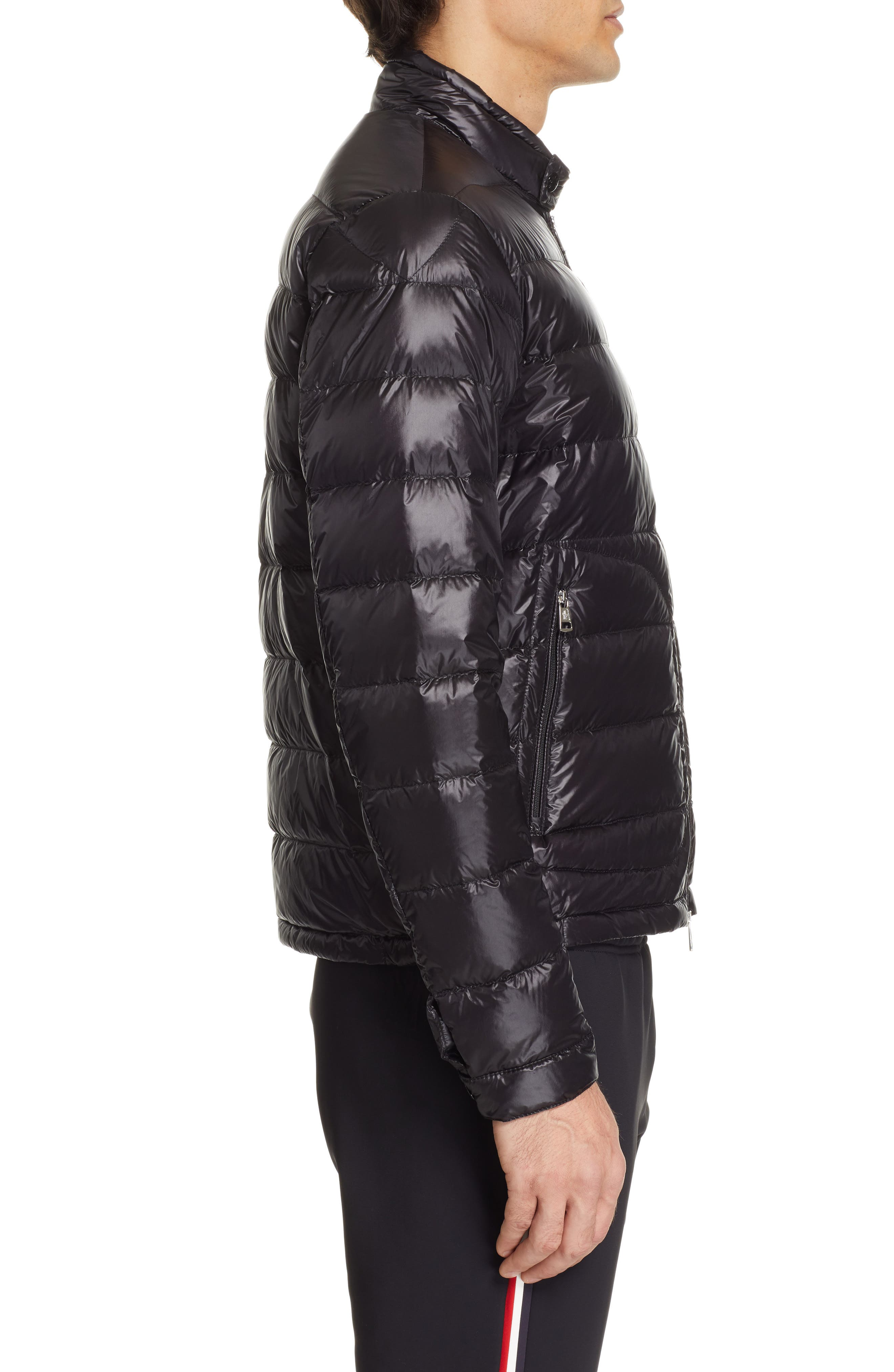 MONCLER, Acorus Down Jacket, Alternate thumbnail 3, color, BLACK
