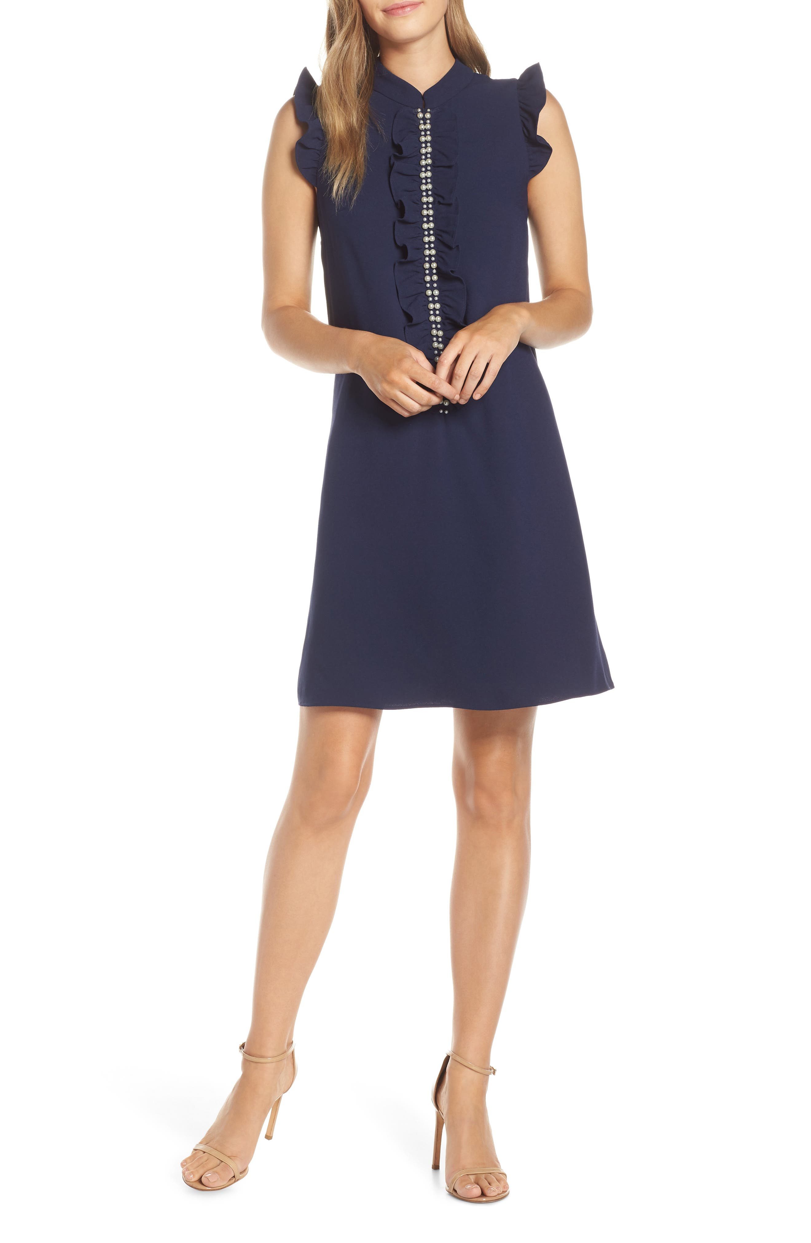 LILLY PULITZER<SUP>®</SUP> Adalee Shift Dress, Main, color, TRUE NAVY