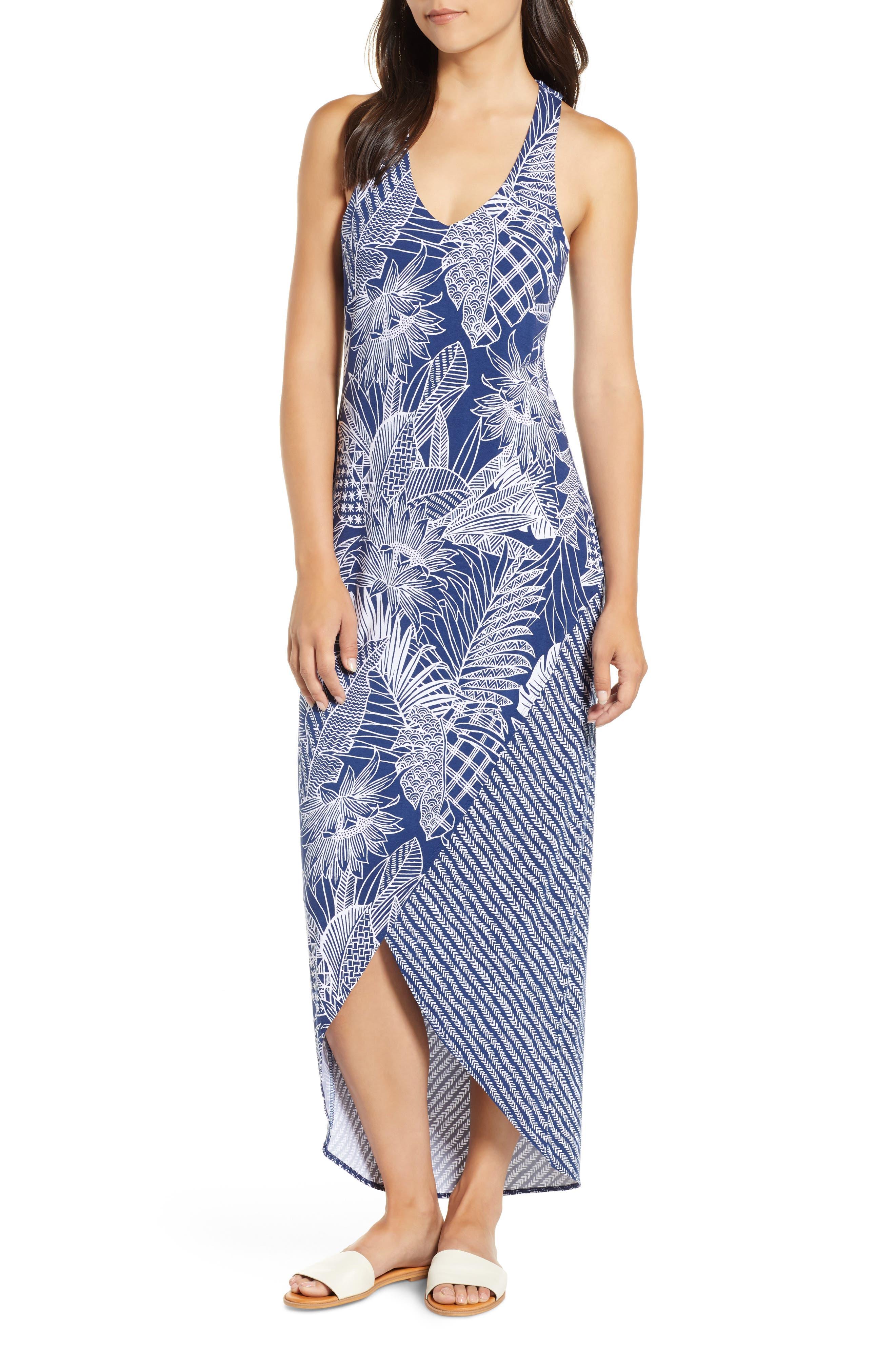 Tommy Bahama Lava Cove Print Maxi Dress, Blue